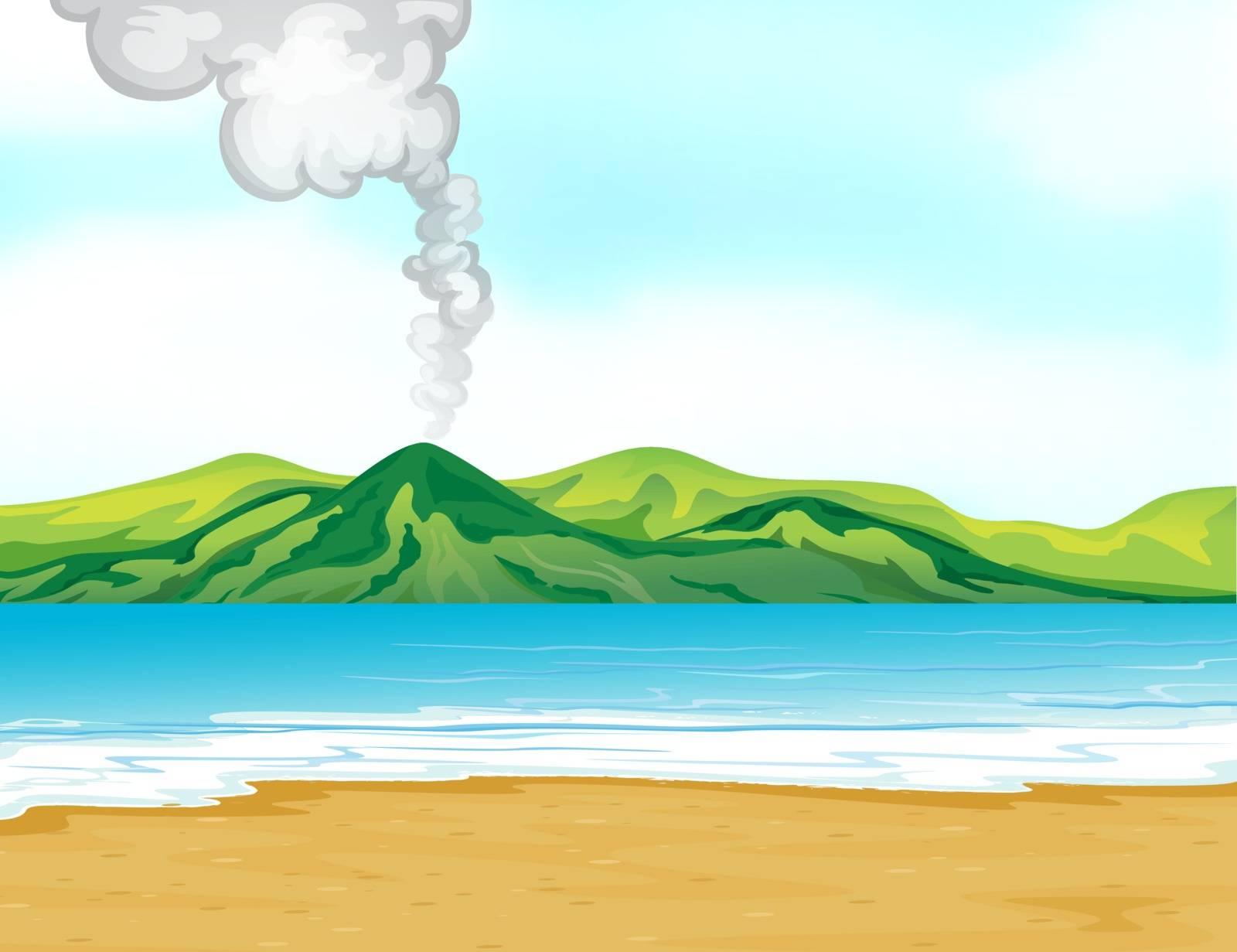 Illustration of the blue sea