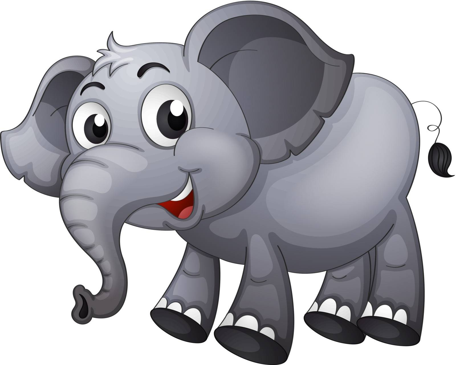 Illustration of a gray elephant
