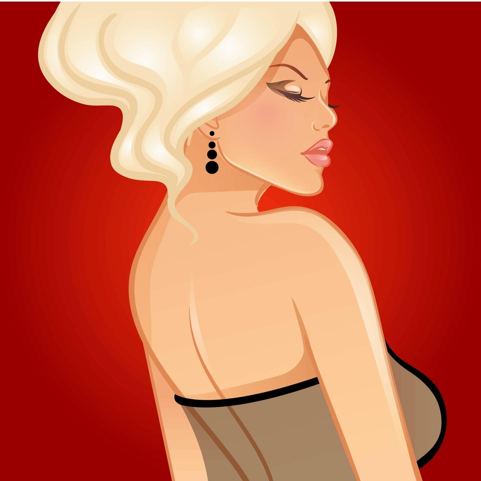 Vector illustration (eps 10) of Beautiful woman