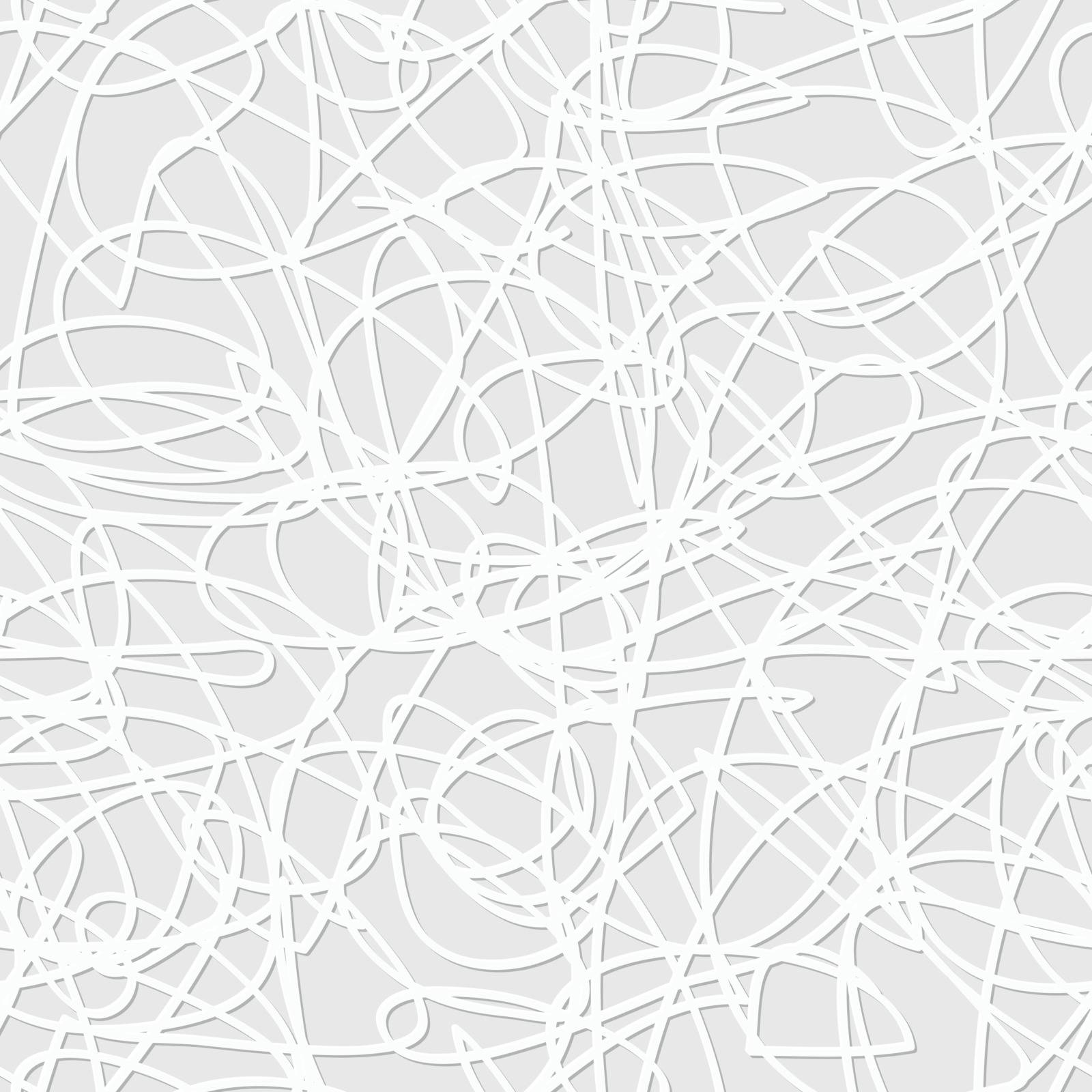 Sketch lines in vintage style, vector seamless pattern
