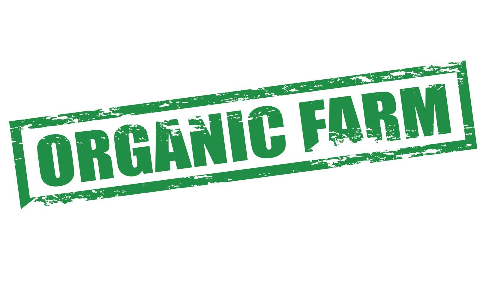 Rubber stamp with text organic farm inside, vector illustration