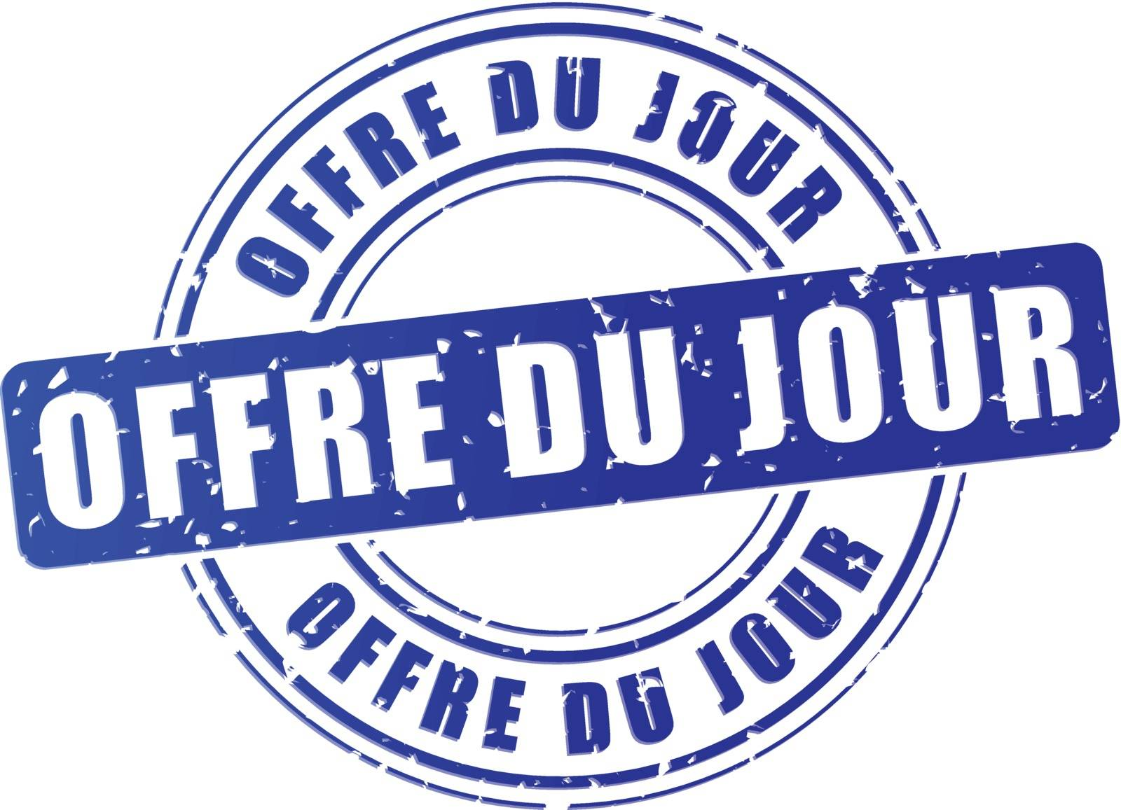 french translation of daily deal blue design stamp