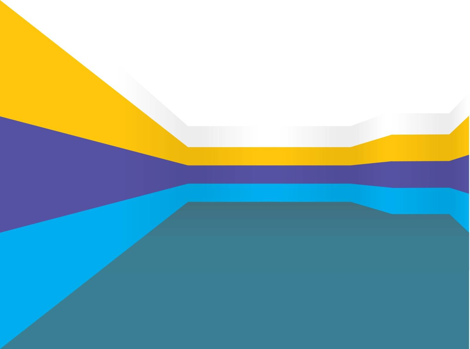 vector illustration of a beautiful wall prospects in different colors