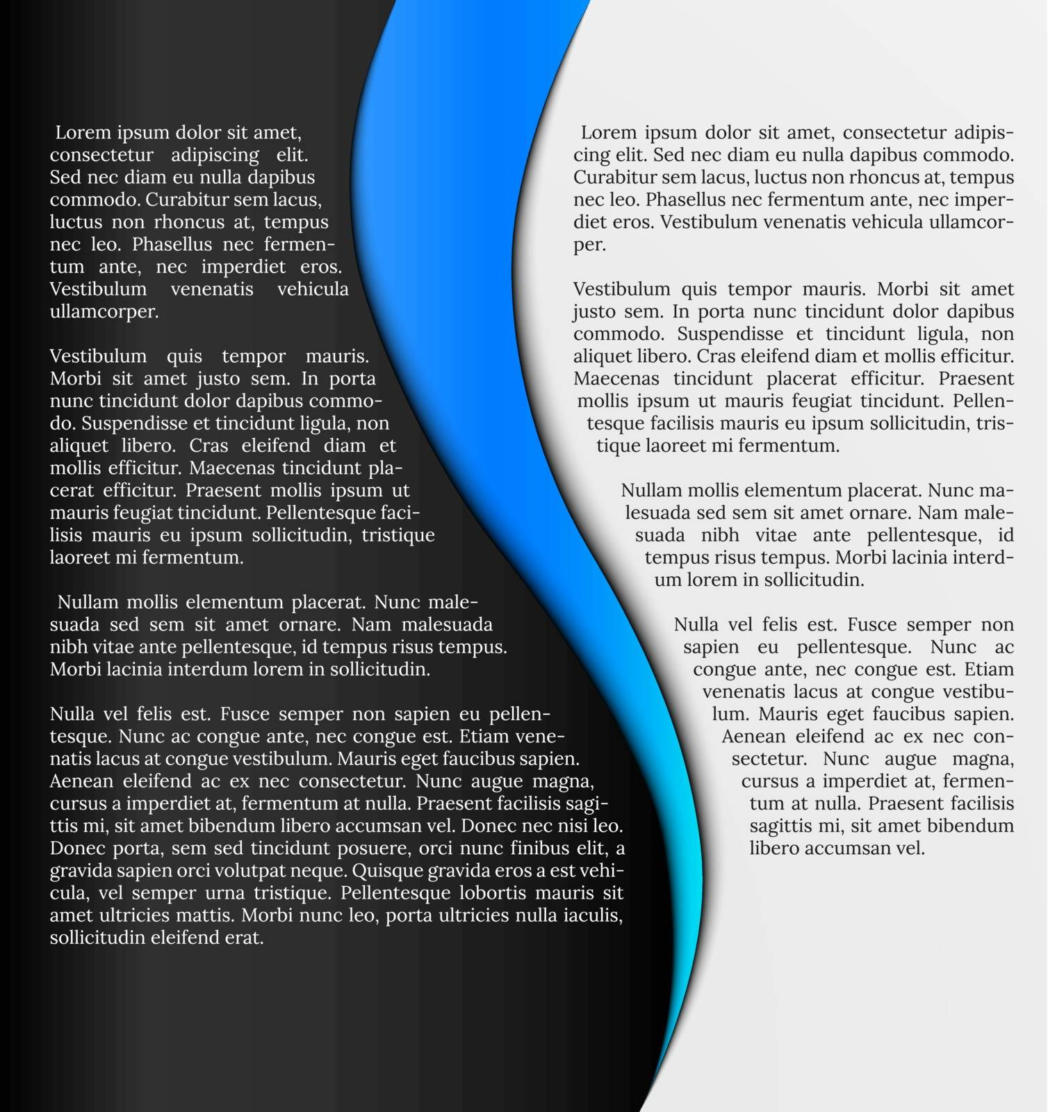 black and white infographic template with blue element
