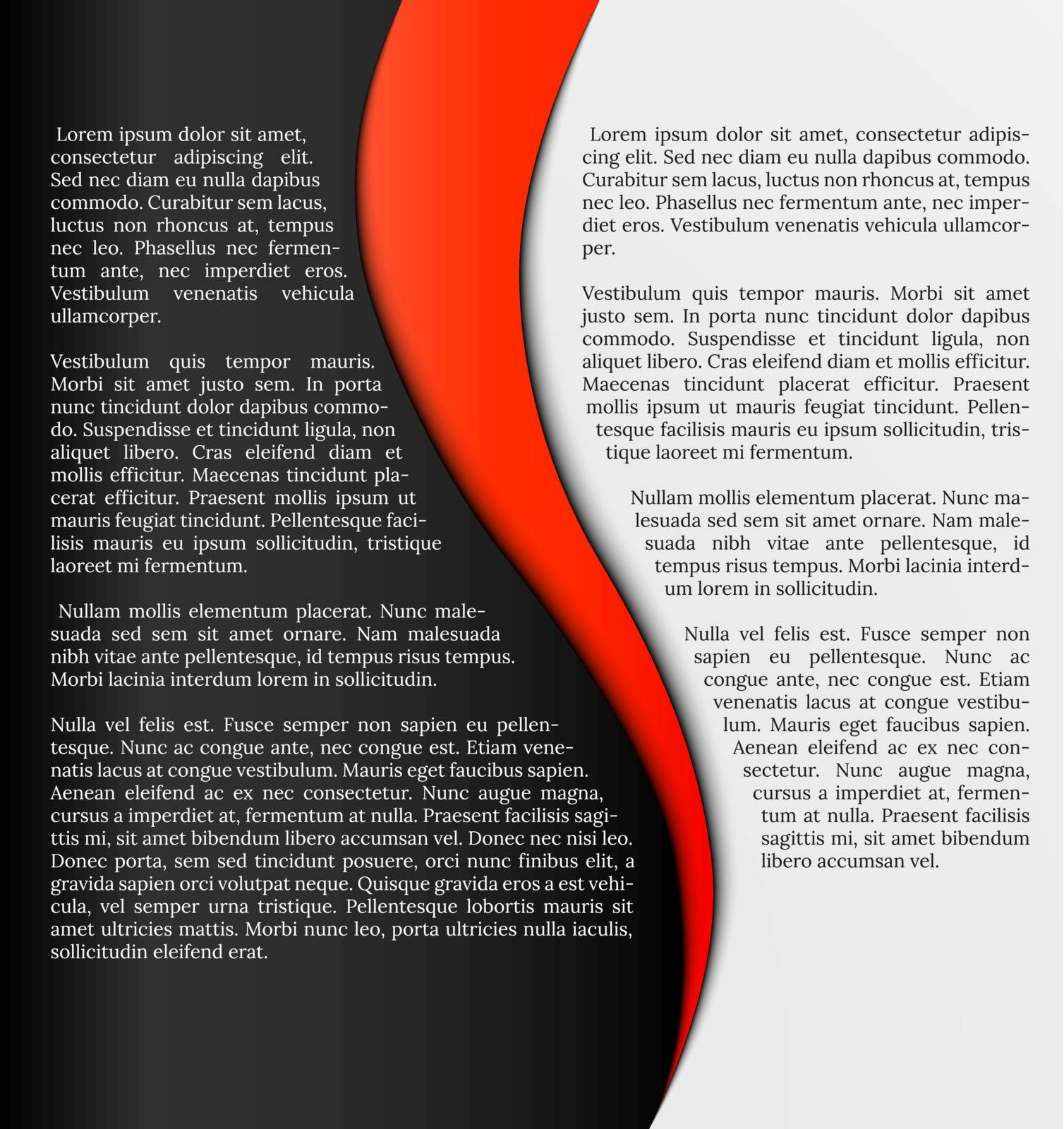 black and white infographic template with red element