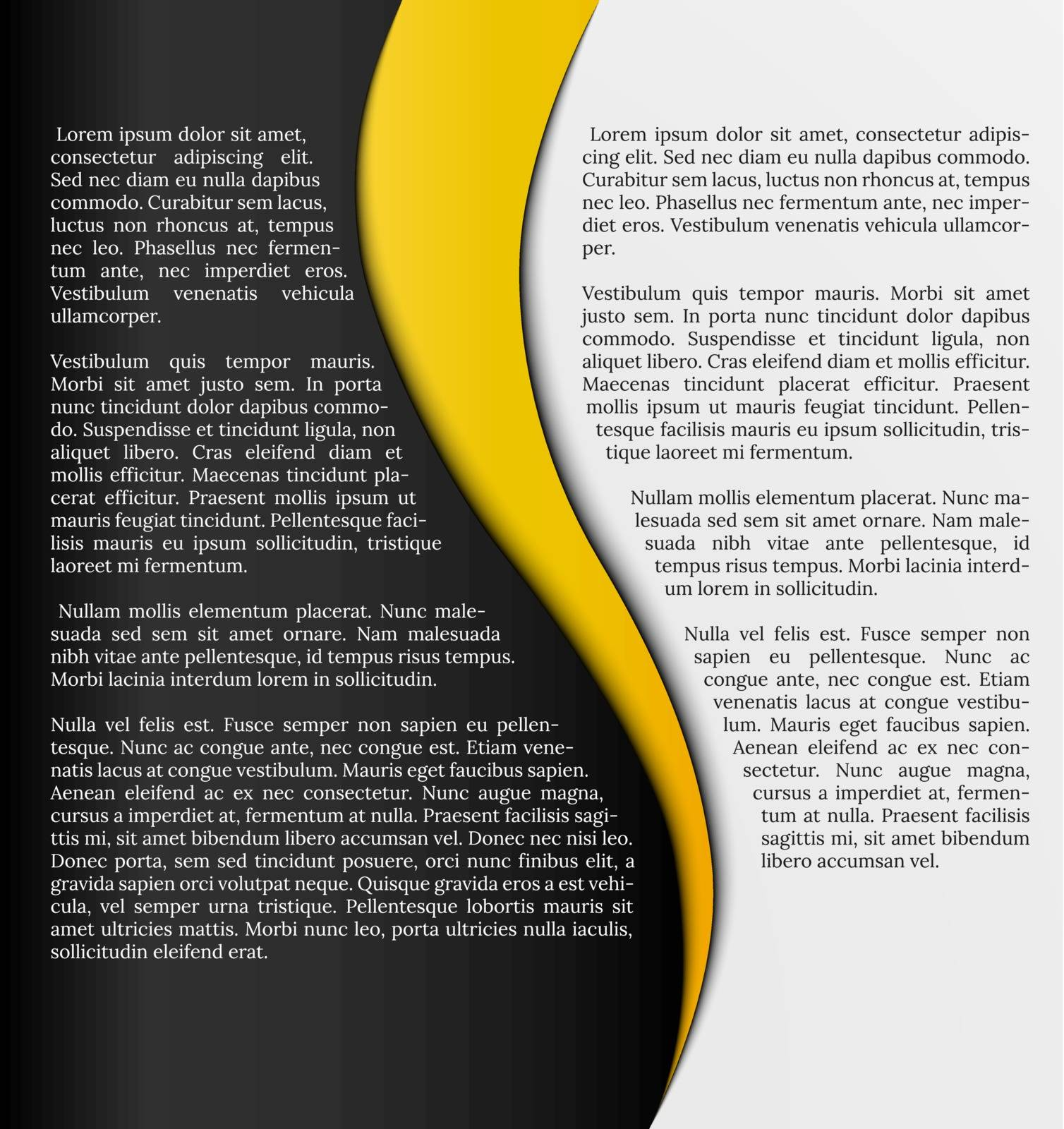 black and white infographic template with yellow element