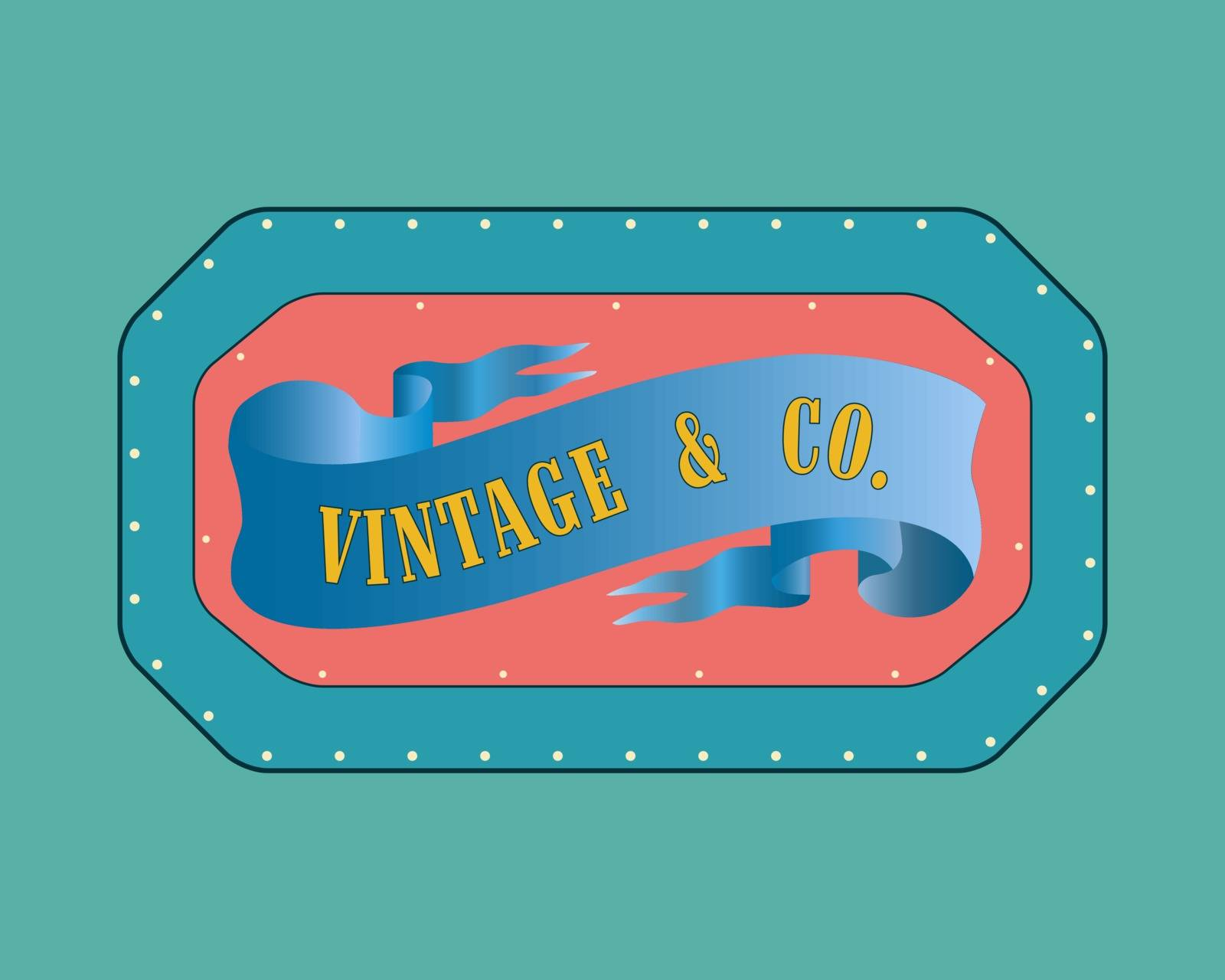 Retro style  badge, vintage collection. Vintage &Co