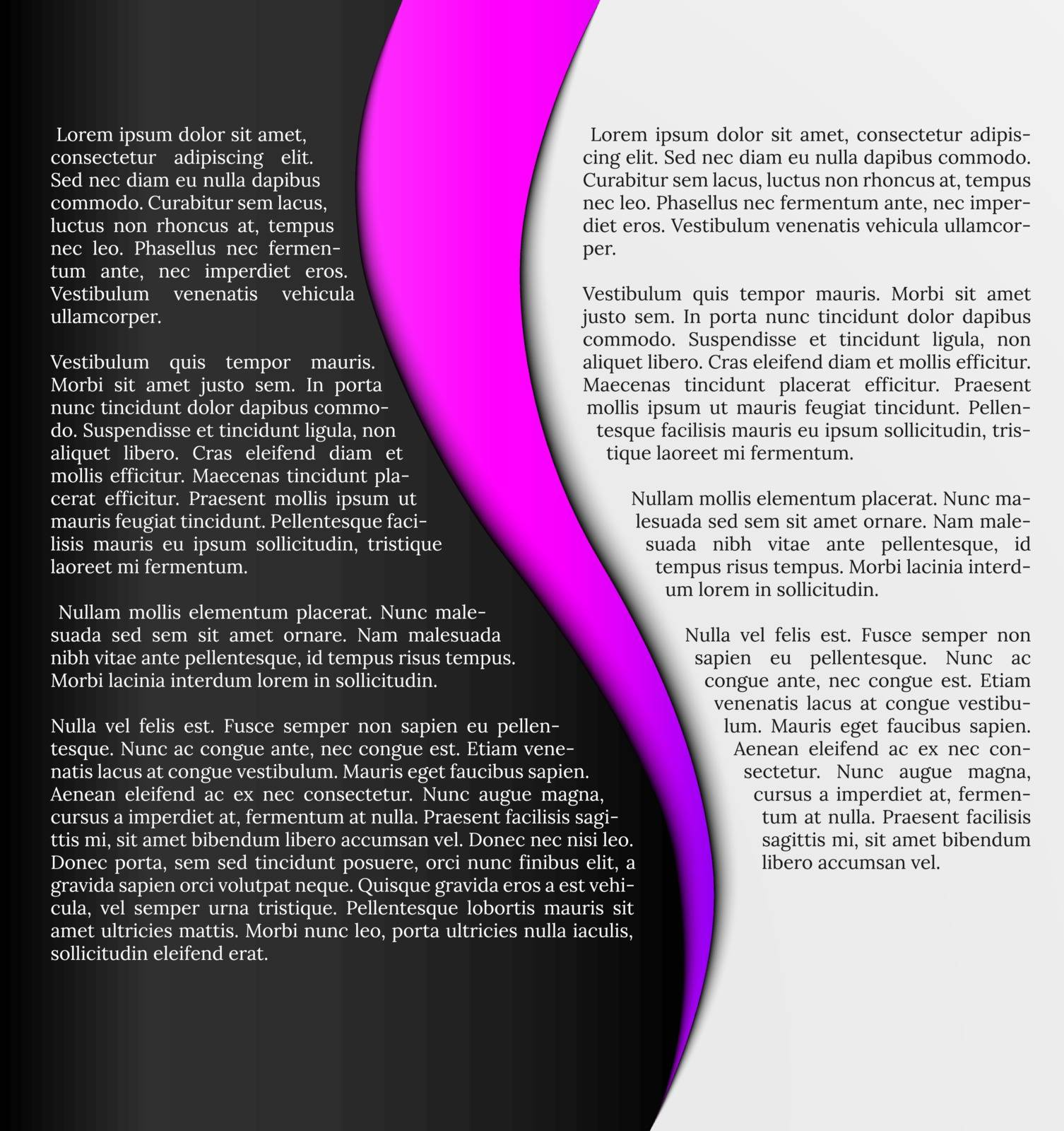 black and white infographic template with pink element