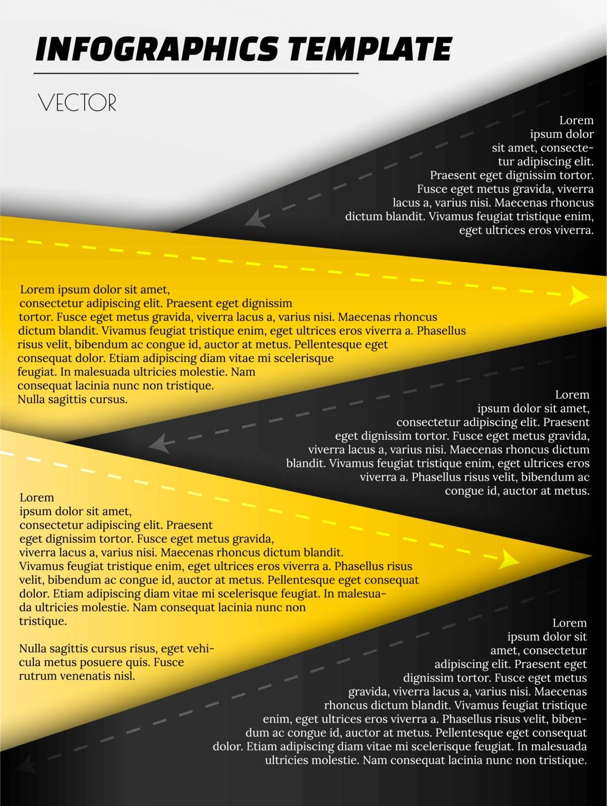 infographic template with yellow and black elements