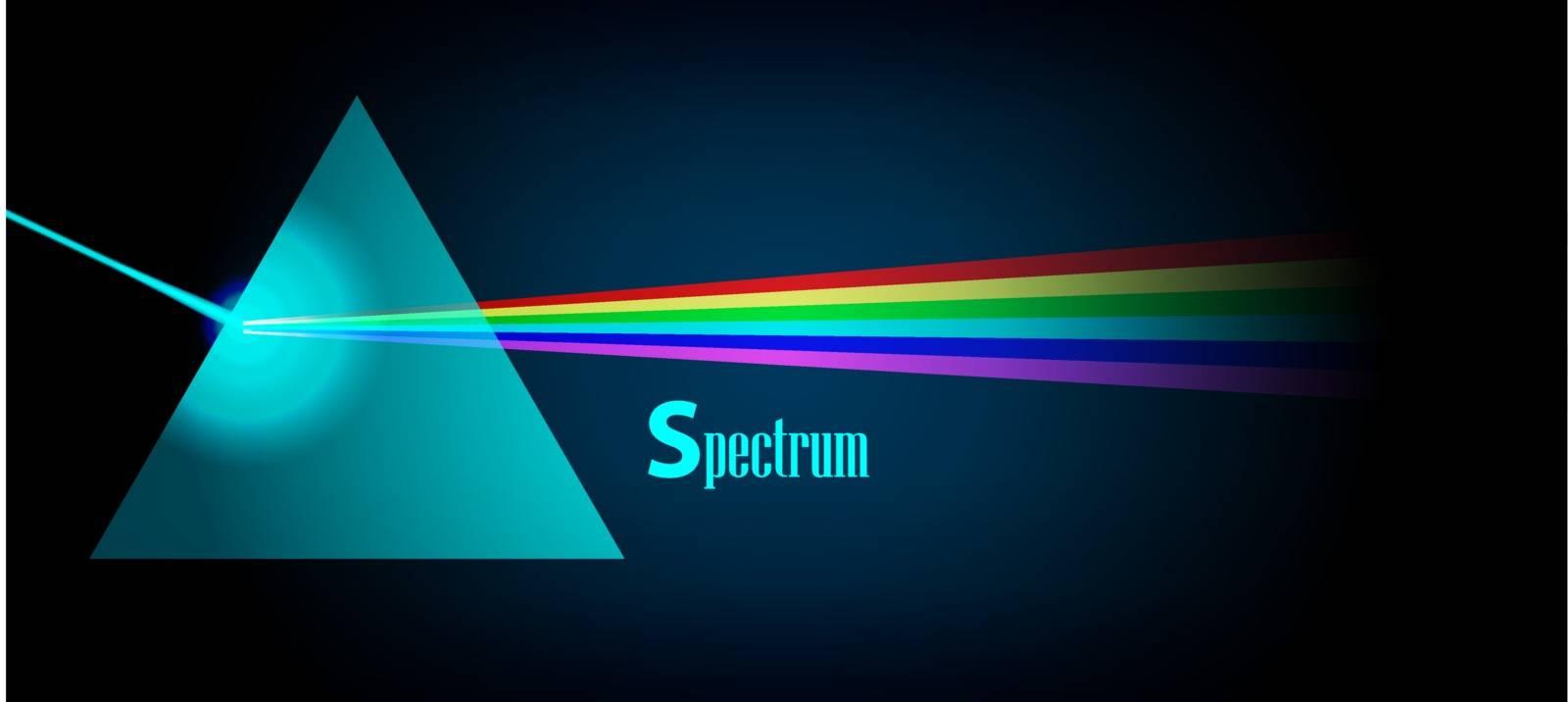 Physics Prism light spectrum eps 10 vector illustration