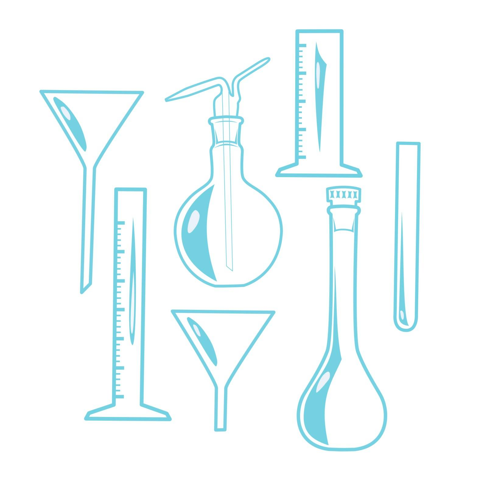Vector illustration : Laboratory Equipment on a white background.