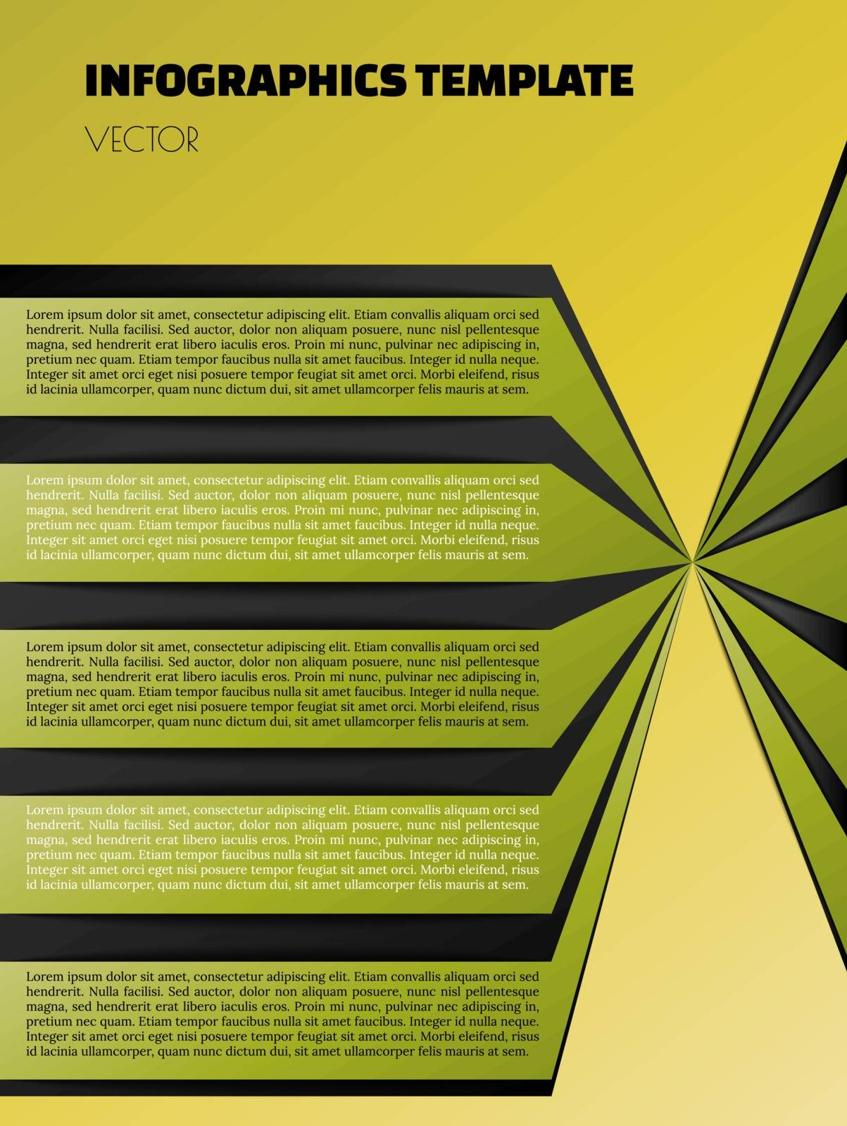green infographic template with green and black element
