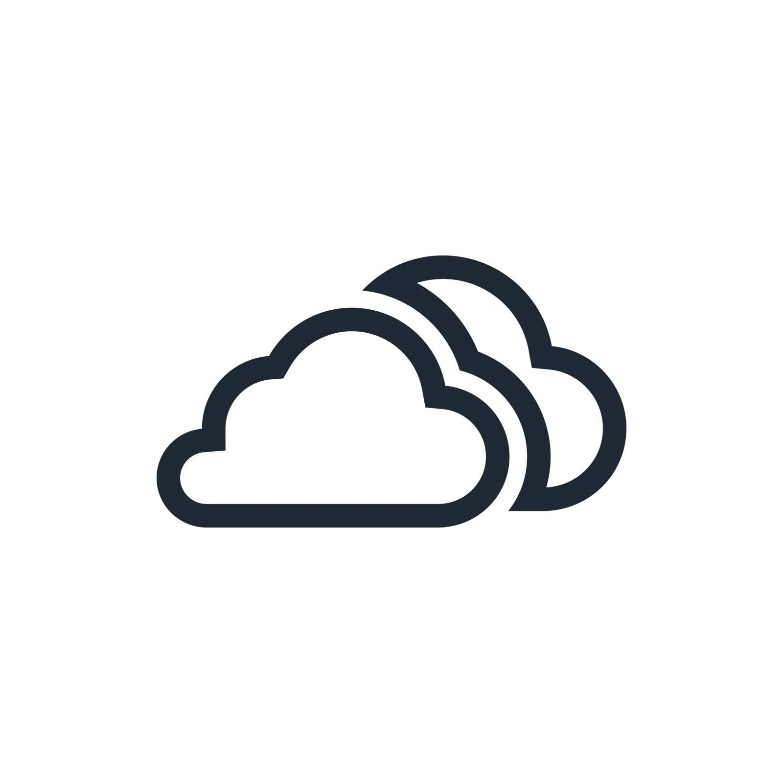 outline clouds icon