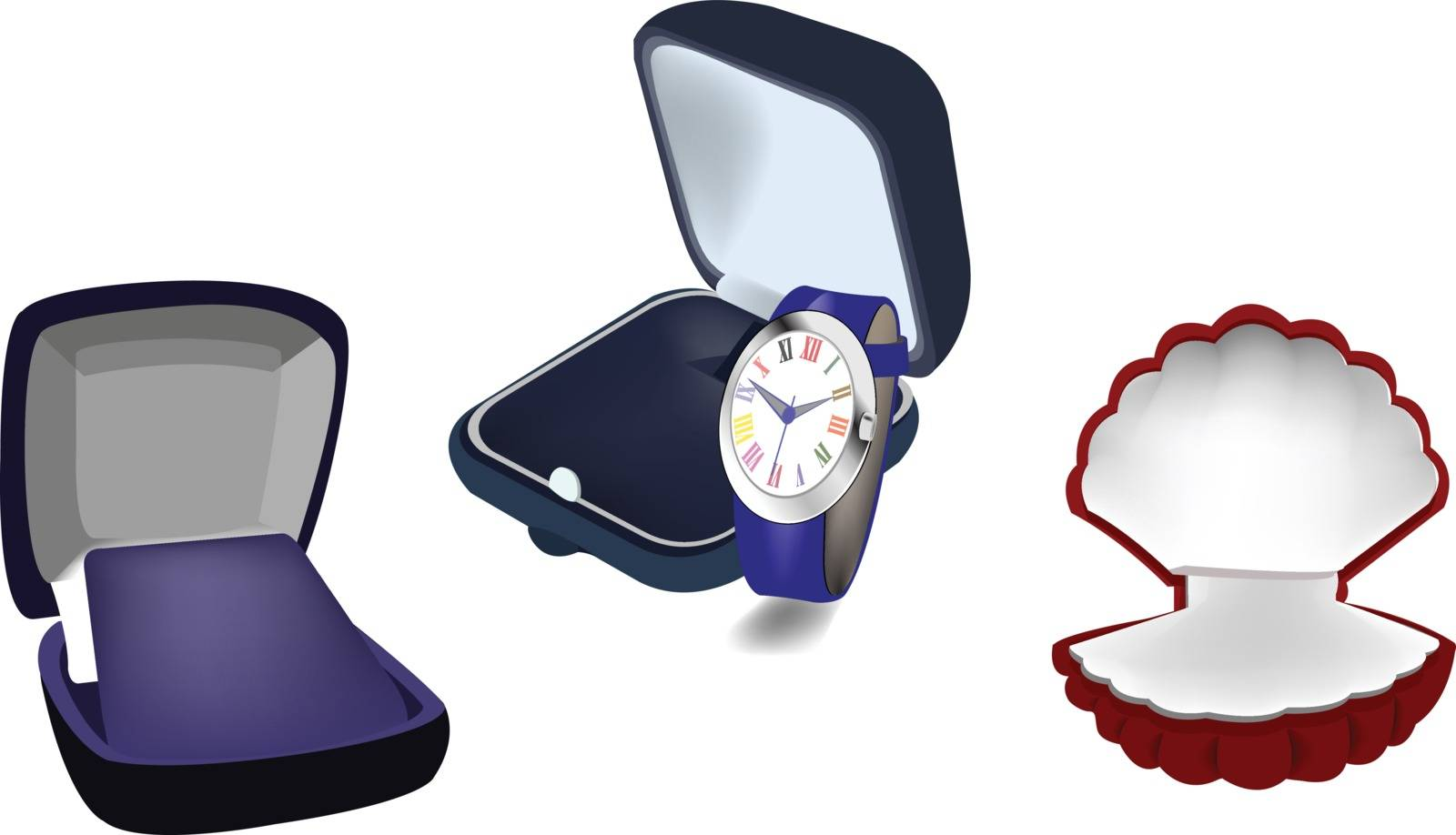 Caskets style velvet jewelry boxes use jewelery