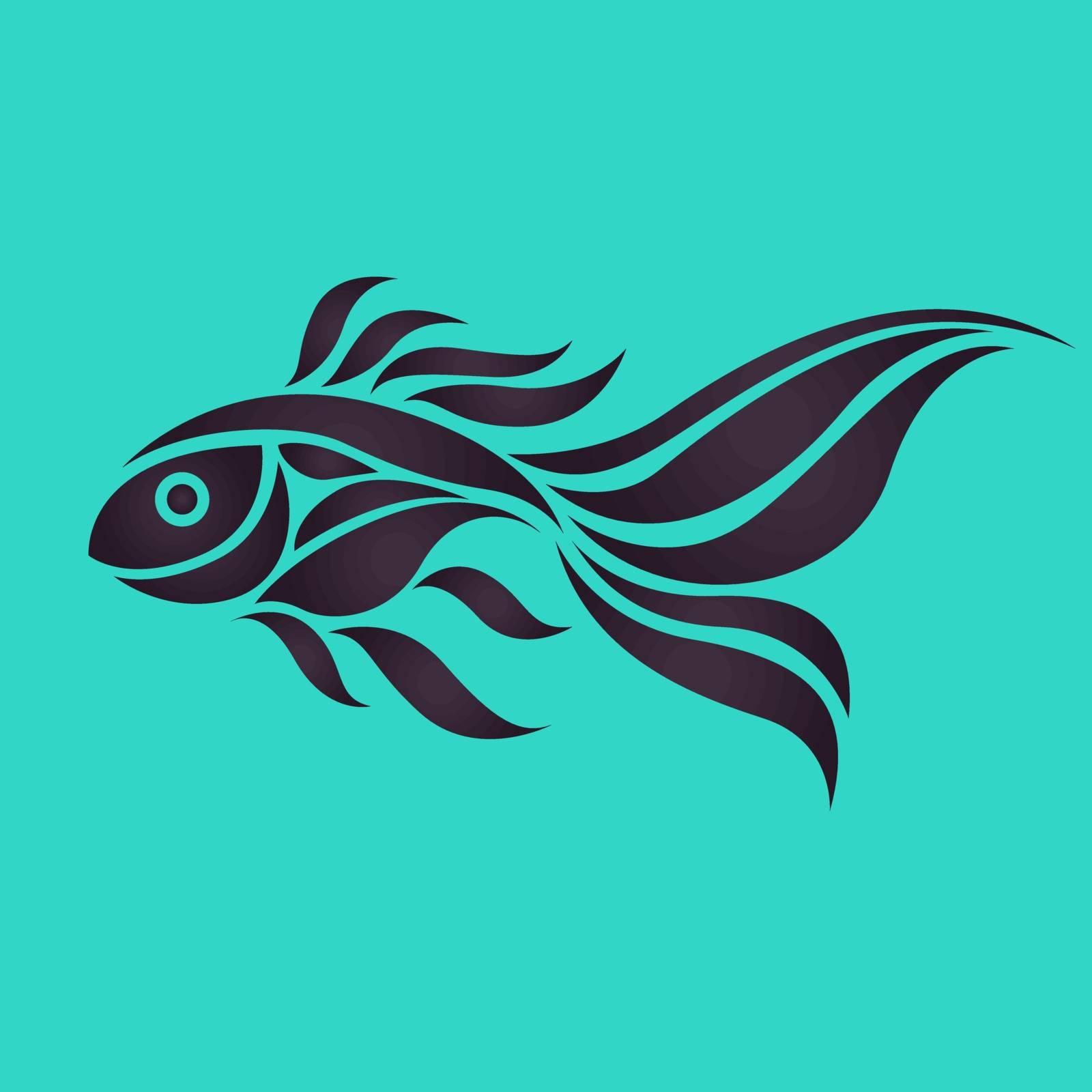 Goldfish logo vector