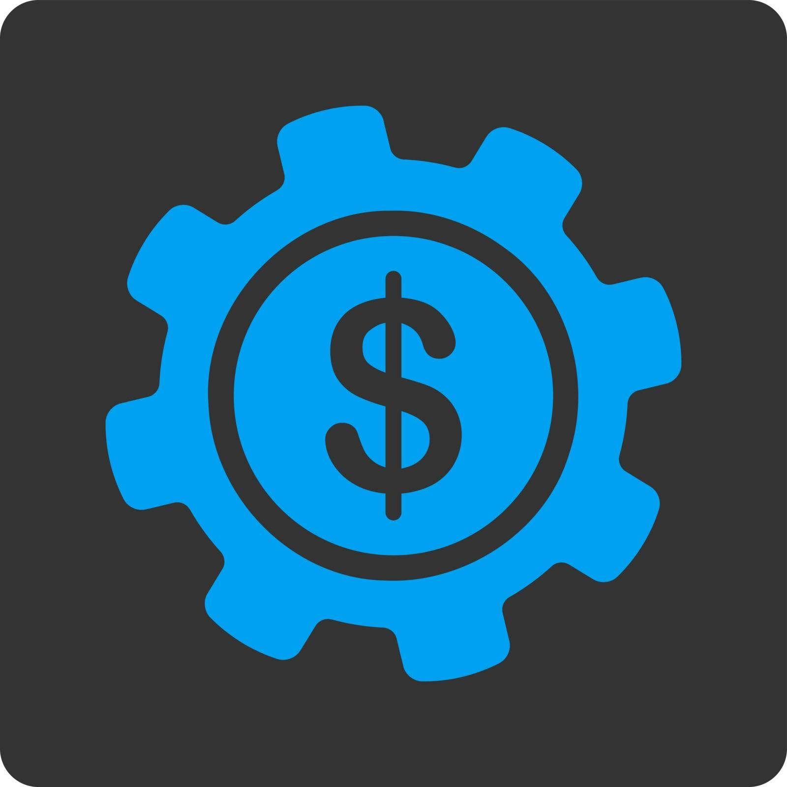 Payment options icon. Vector style is white and gray colors, flat rounded square button on a white background.