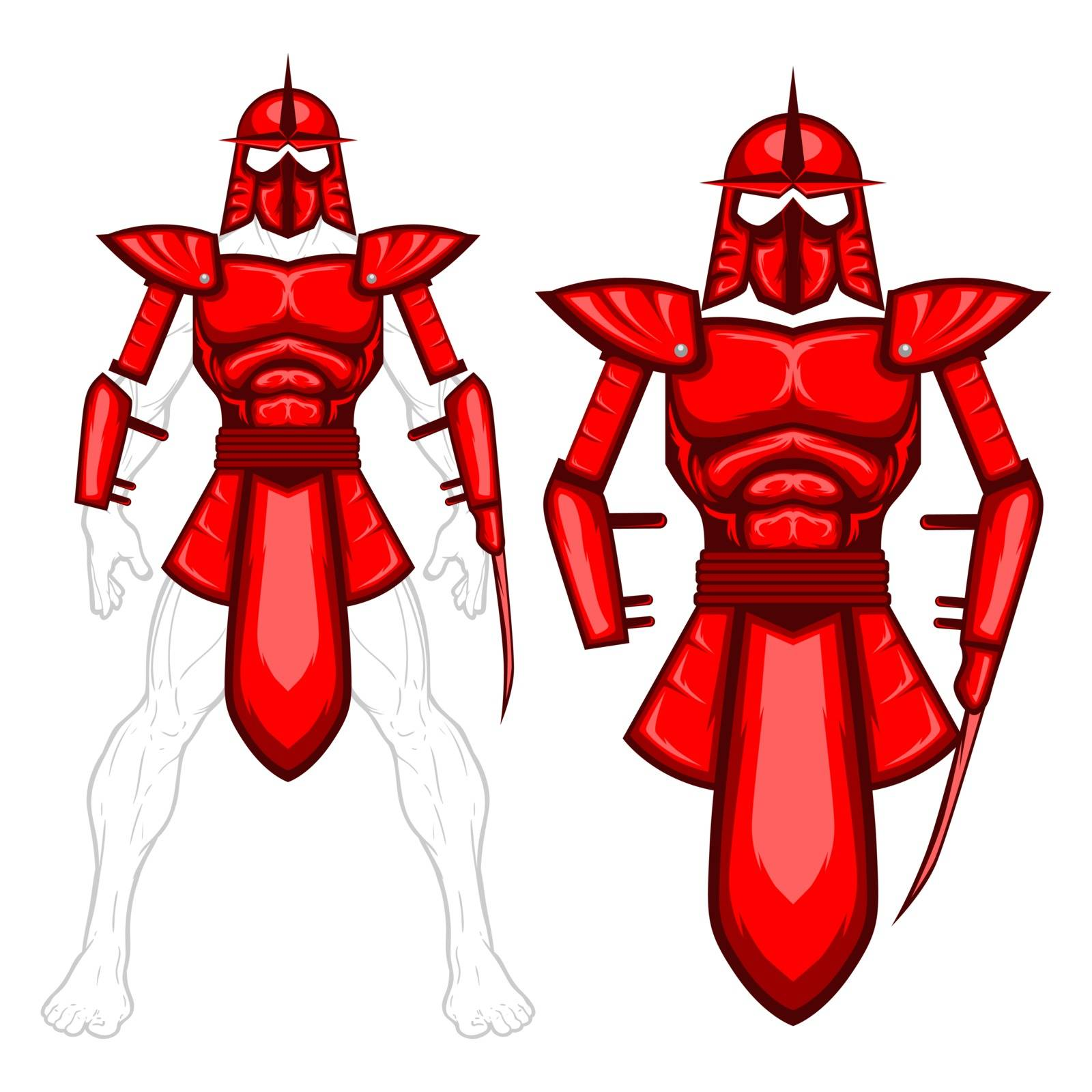 An armor design that can be a papercut toys