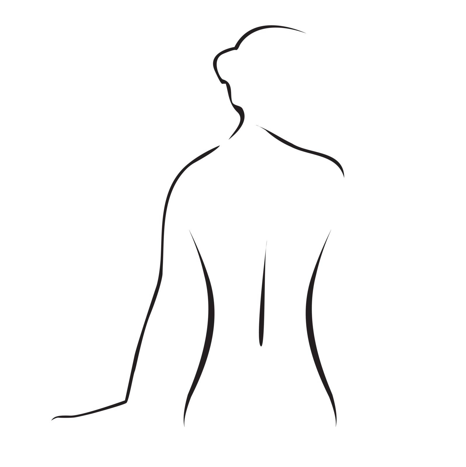 Abstract drawing of graceful lady