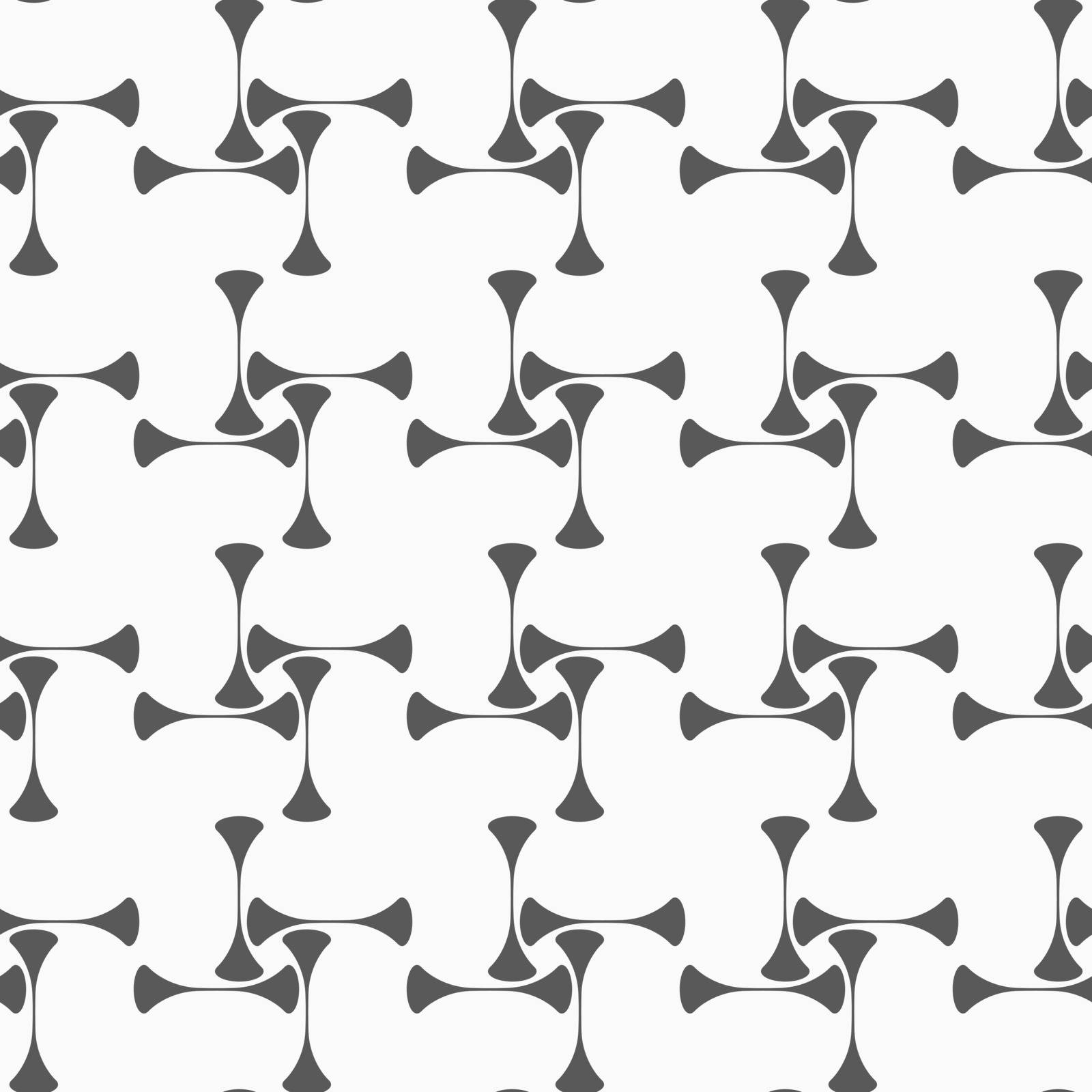 Monochrome abstract geometrical pattern. Modern gray seamless background. Flat simple design.Gray vertical gray rotated clubs.