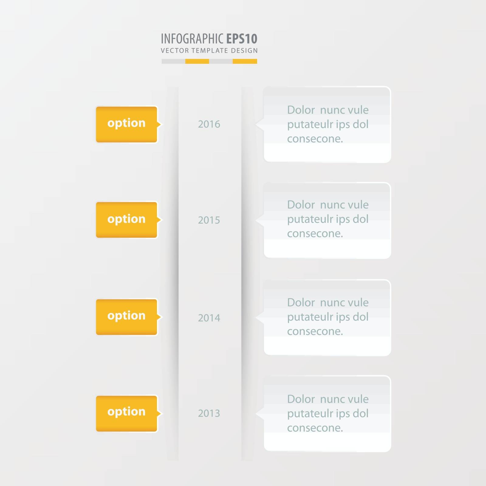 timeline template  template  yellow color