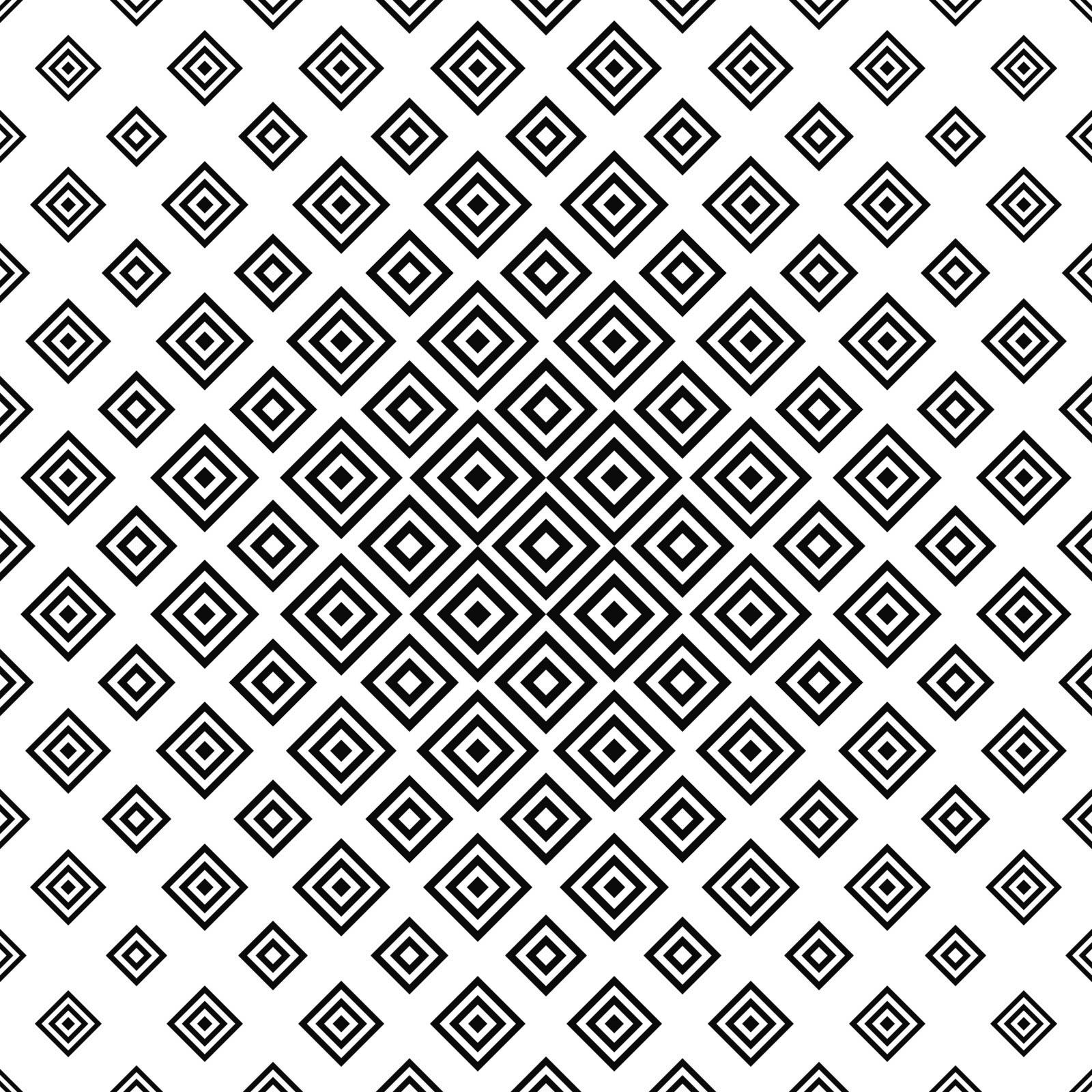 Monochrome abstract square repeat vector pattern background