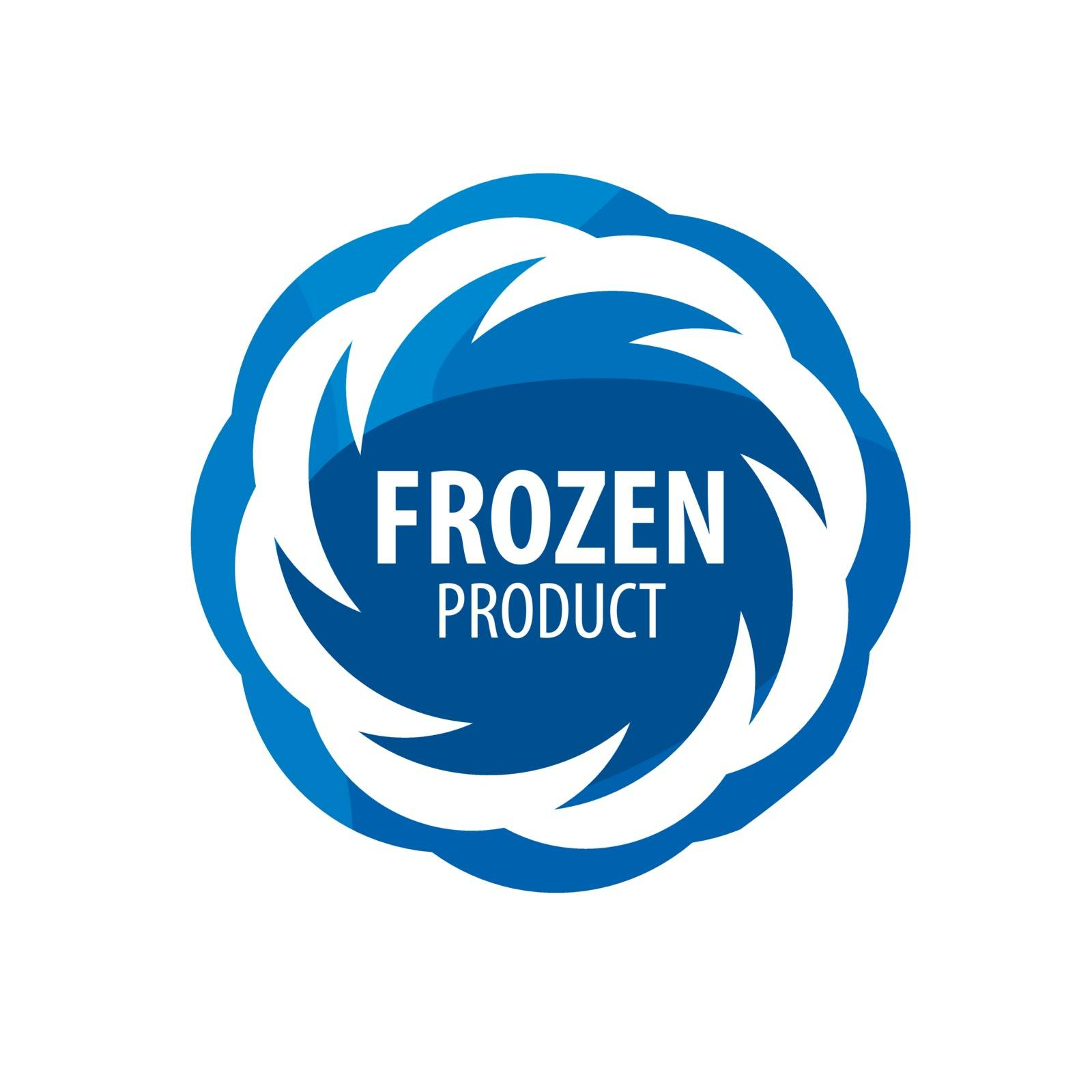 Abstract vector logo for frozen products. Design element