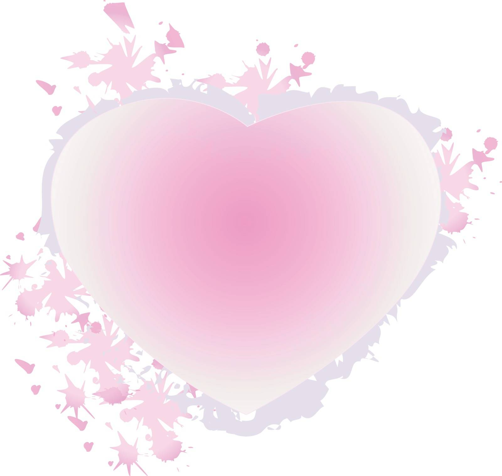 An illustration of a pink heart