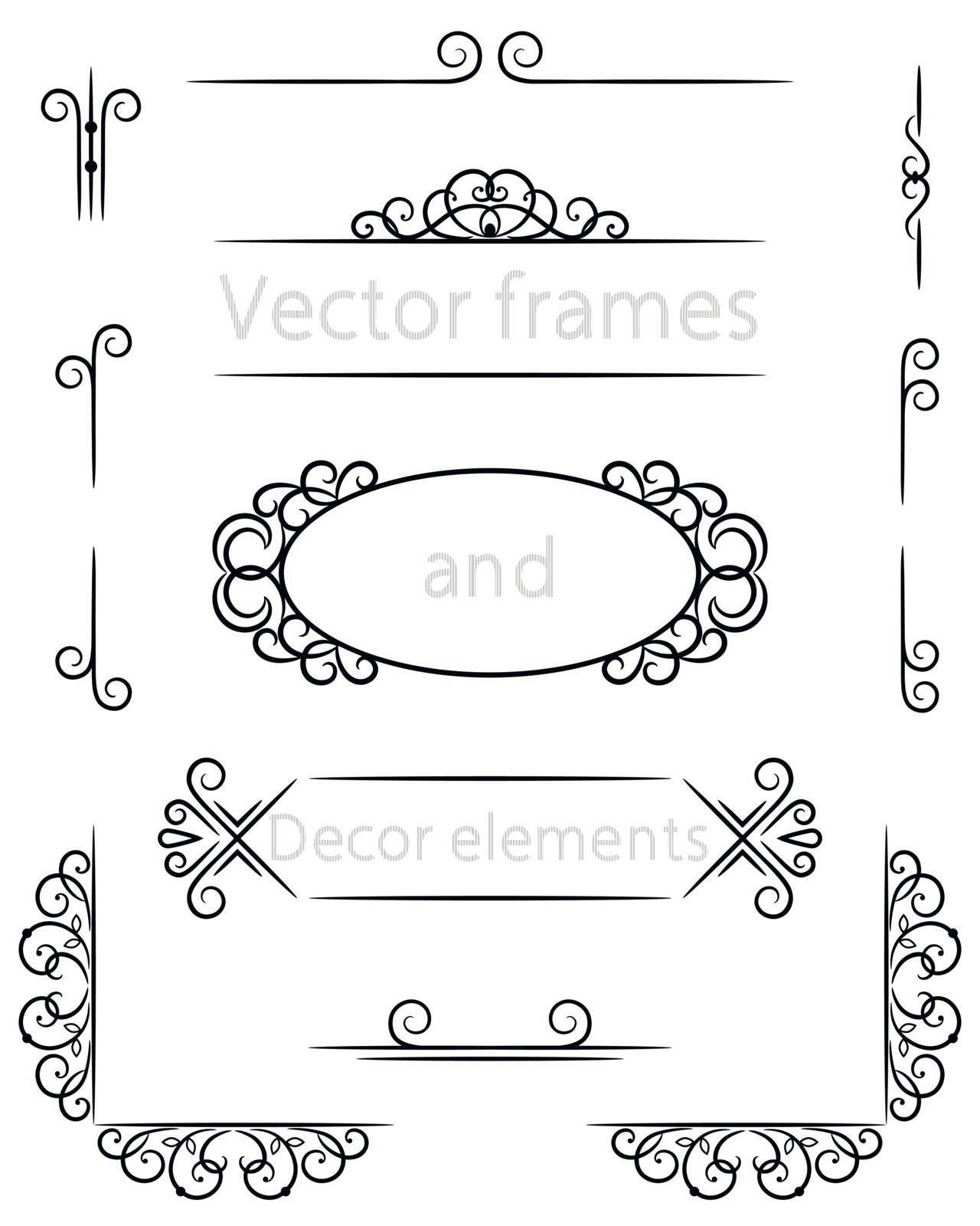 vector frame and decor elements for text
