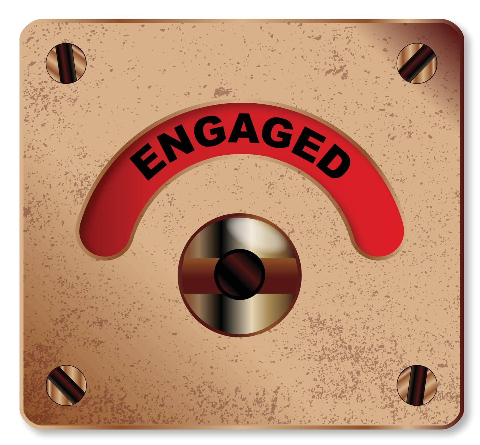 A typical loo engaged indicator over a white background
