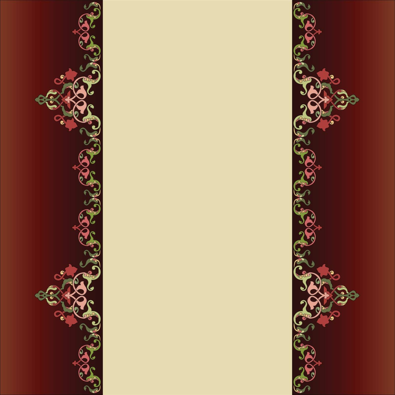 Borders and frames are designed with islamic motifs