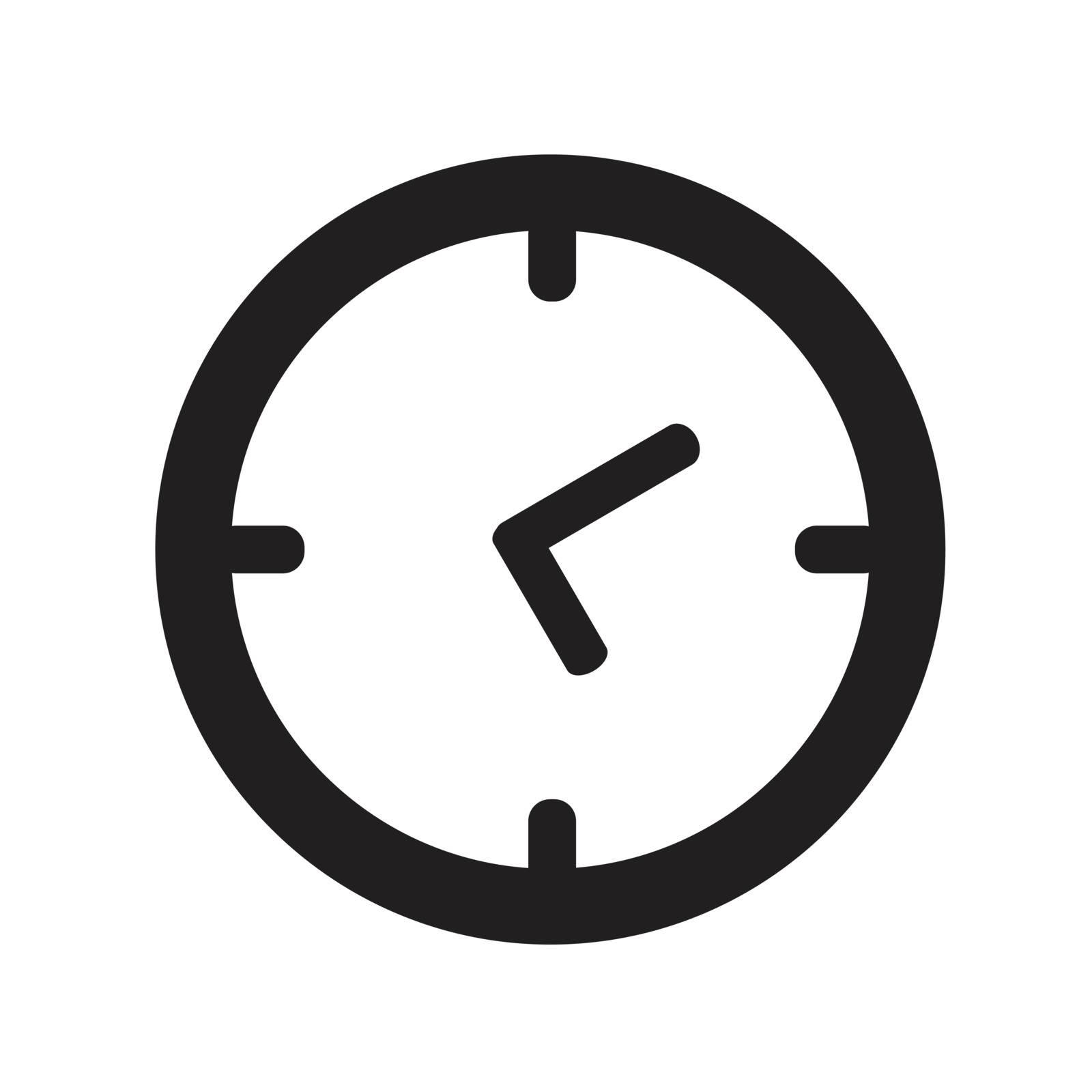vector black clocks icon Vector