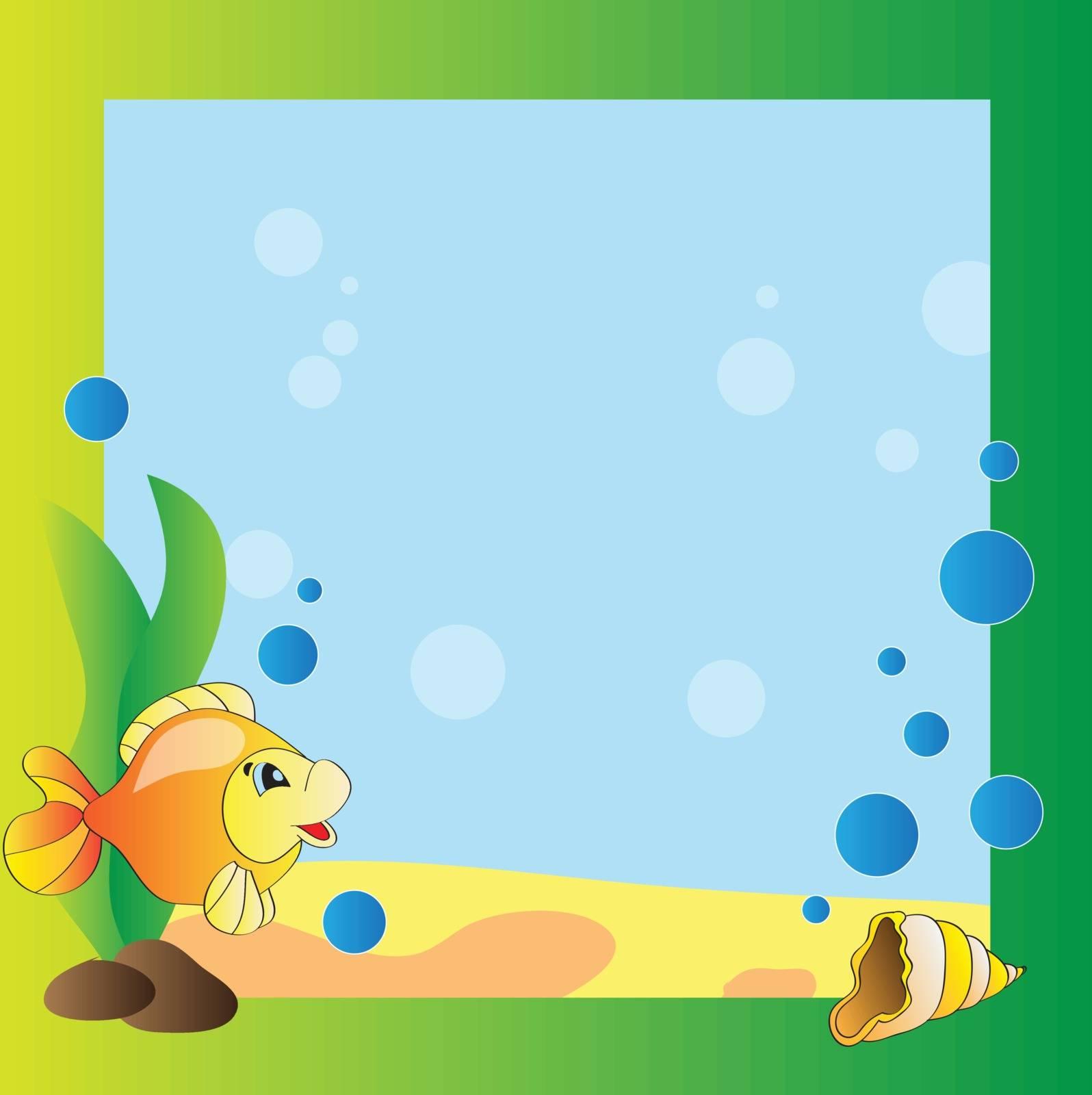 Bright frame - the marine life - vector design