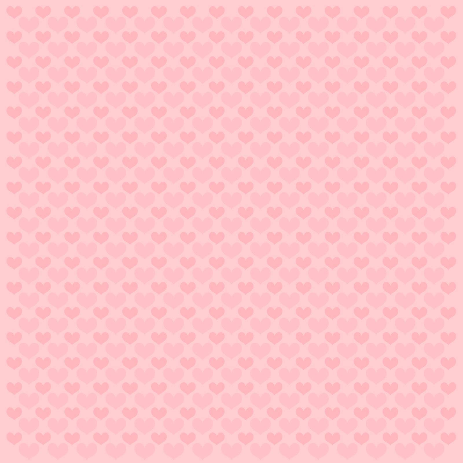 valentine vector pattern background made of pink hearts shapes