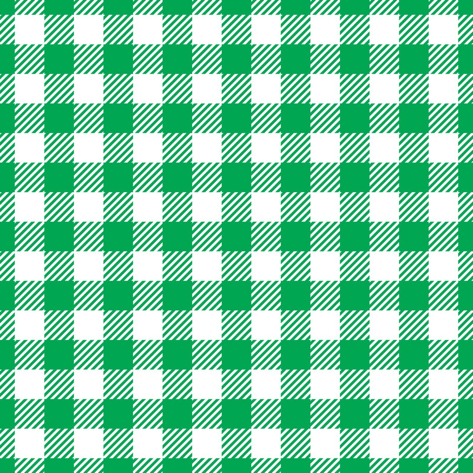 Seamless Green White Traditional Gingham Pattern Fabric Texture