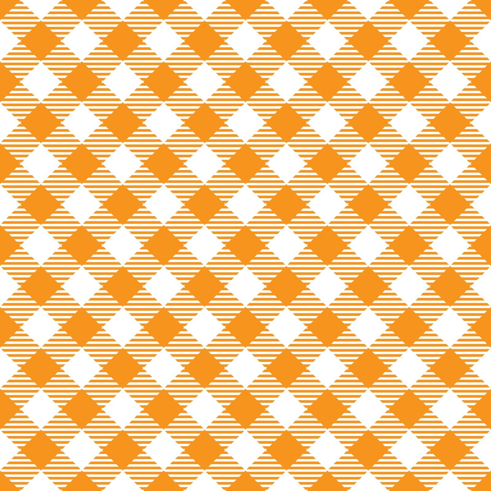 Seamless Yellow White Traditional Gingham Pattern Fabric Texture for Design
