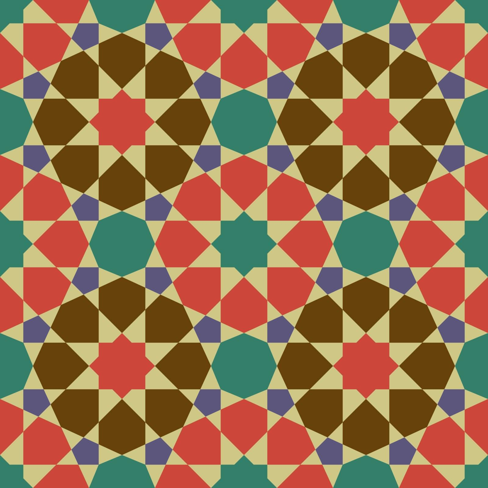 Vintage tile in illustration vector