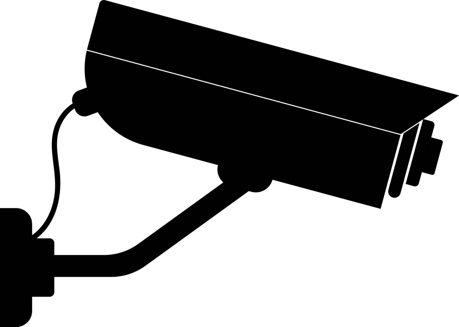 Illustration of video surveillance icon on white background