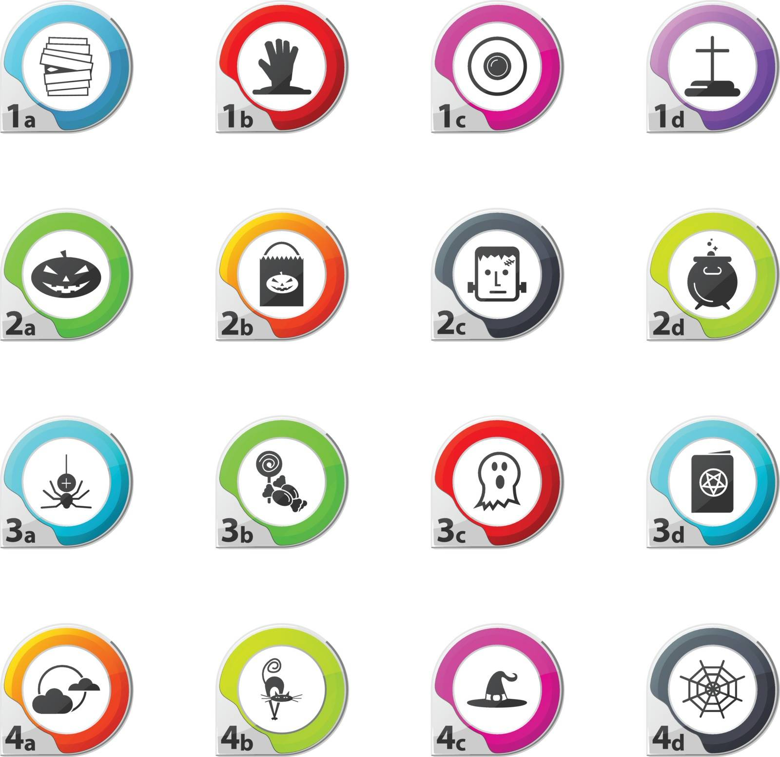 Set of halloween web icons for user interface design