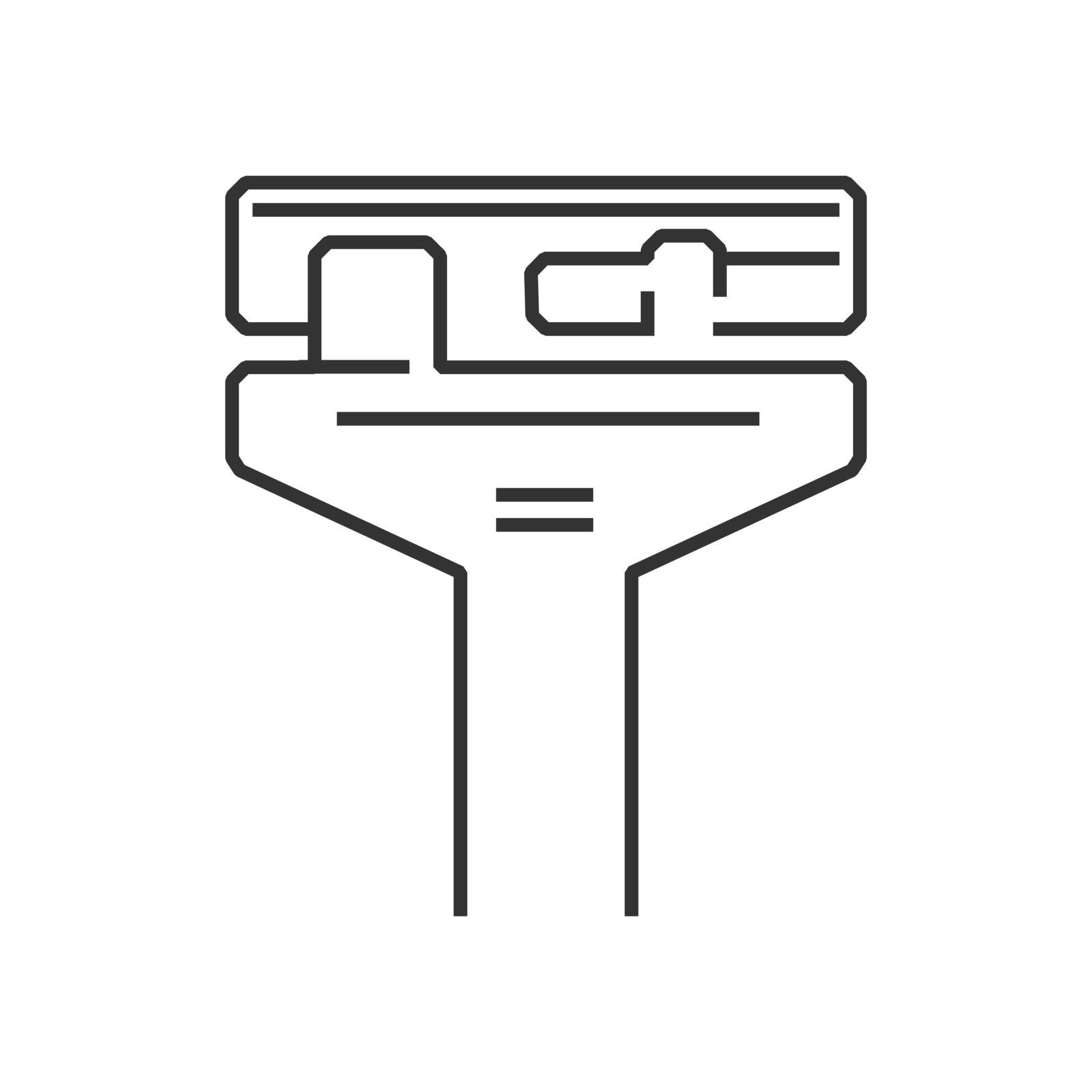 line icon Medical Device Icon, Height, Measurement icon