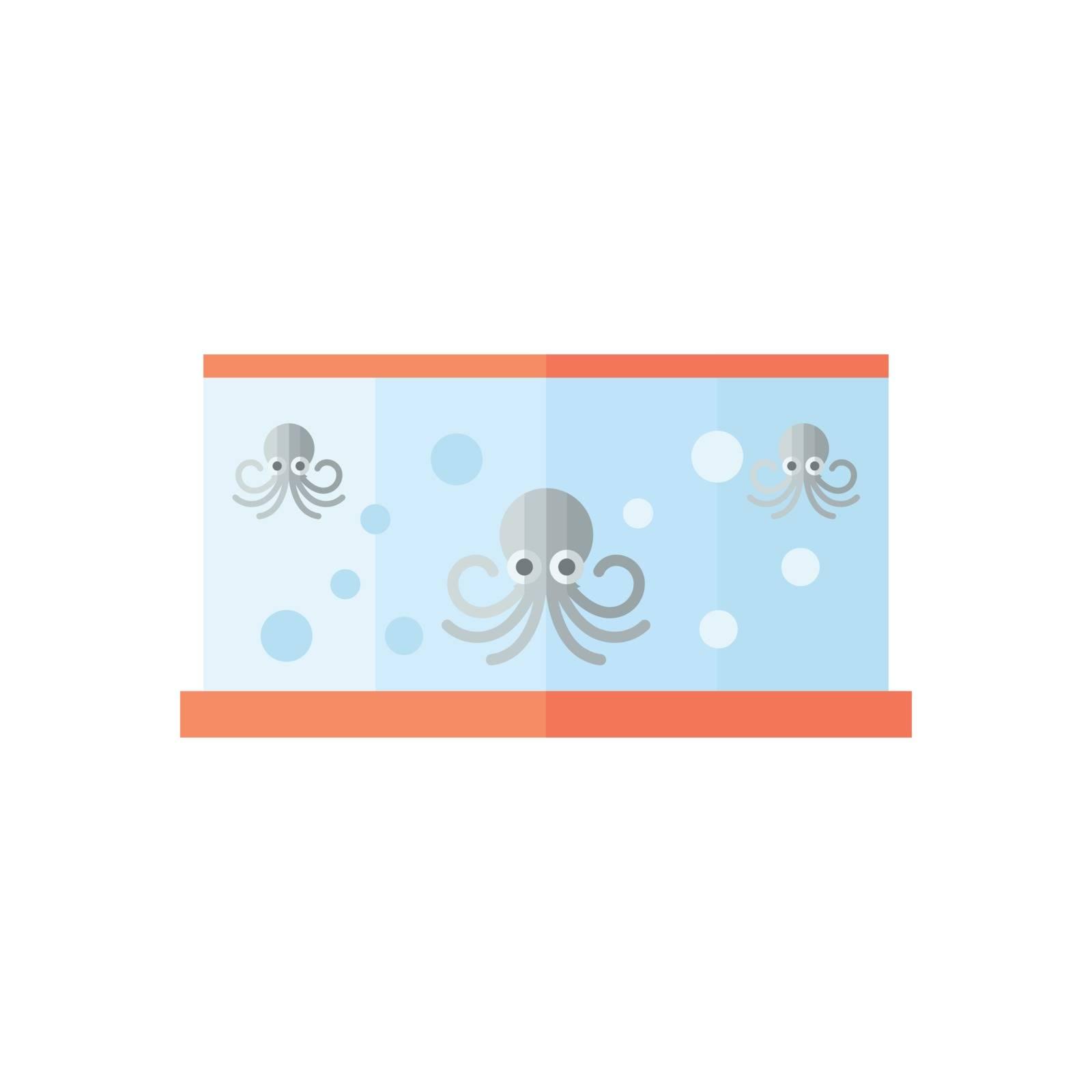 Gray Squid in fish tank