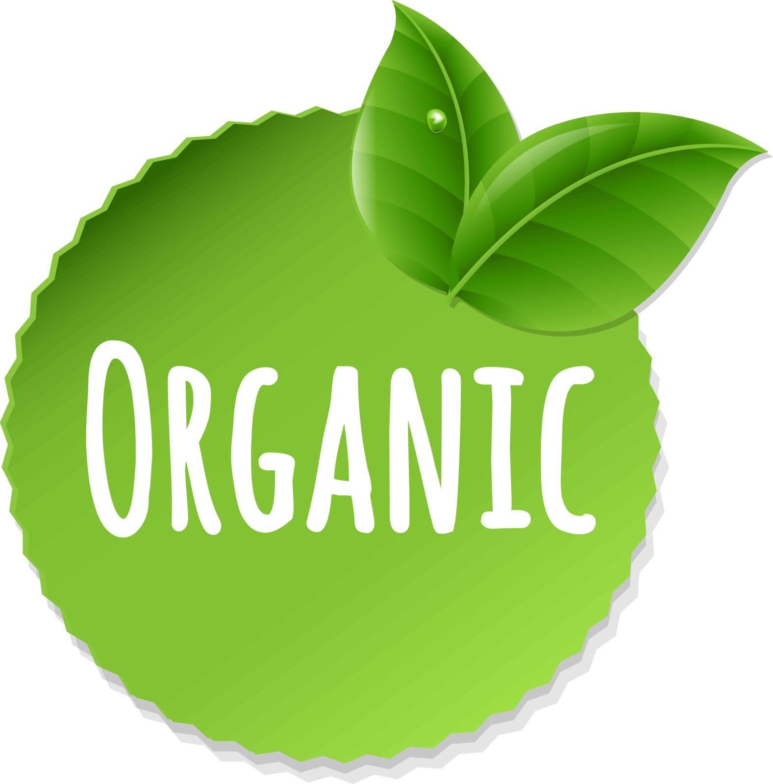 Organic Label With Gradient Mesh, Vector Illustration