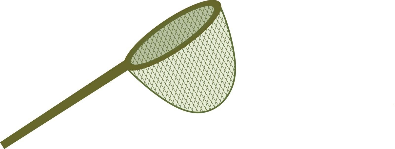 Fishing net. icon flat, cartoon style. Isolated on white background. Vector illustration, clip-art