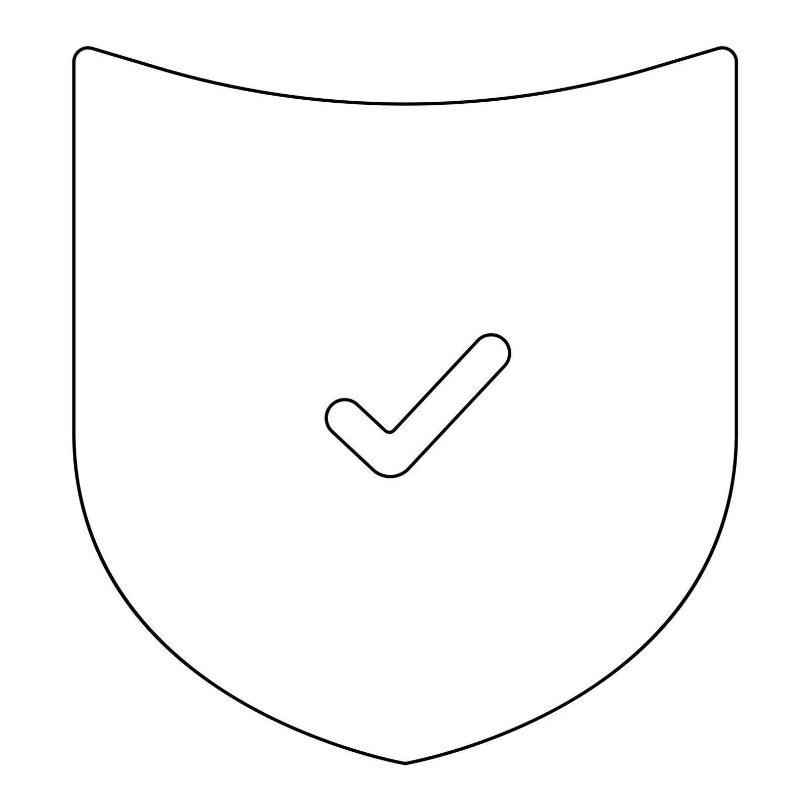 Shield it is the black color icon .