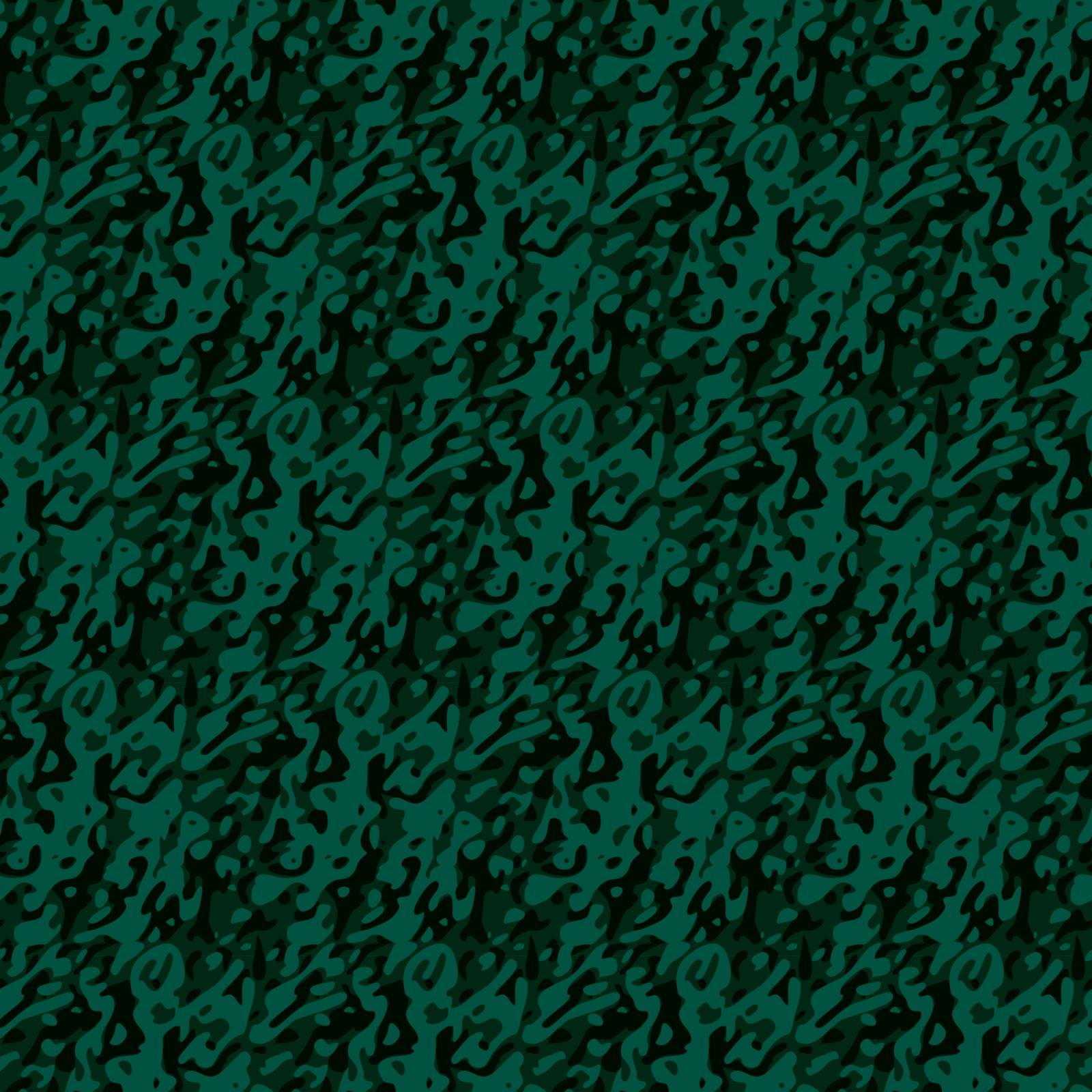 Seamless green vector camouflage pattern, green and dark gray camouflage texture