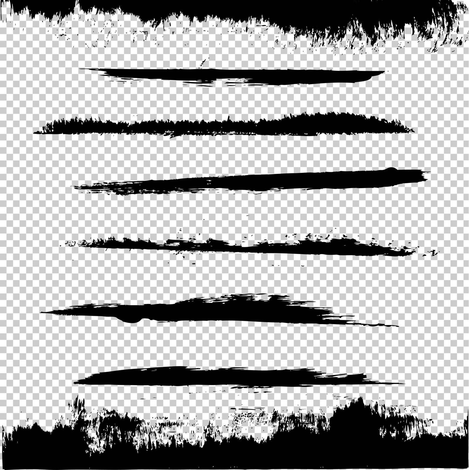 Black Blots, Vector Illustration