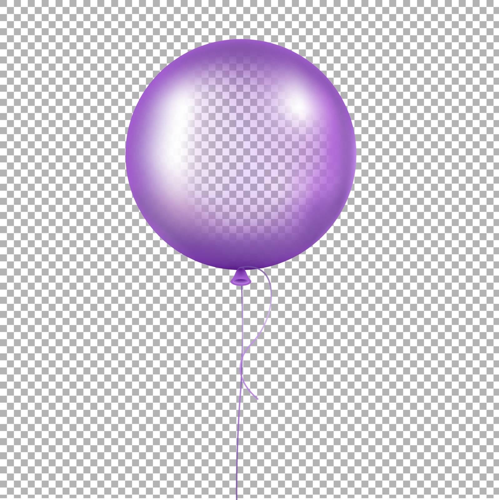 Violet Balloon Gradient Mesh, Vector Illustration