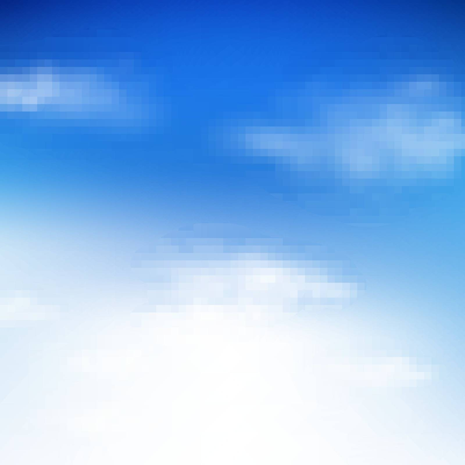 Blue Sky With Gradient Mesh, Vector Illustration
