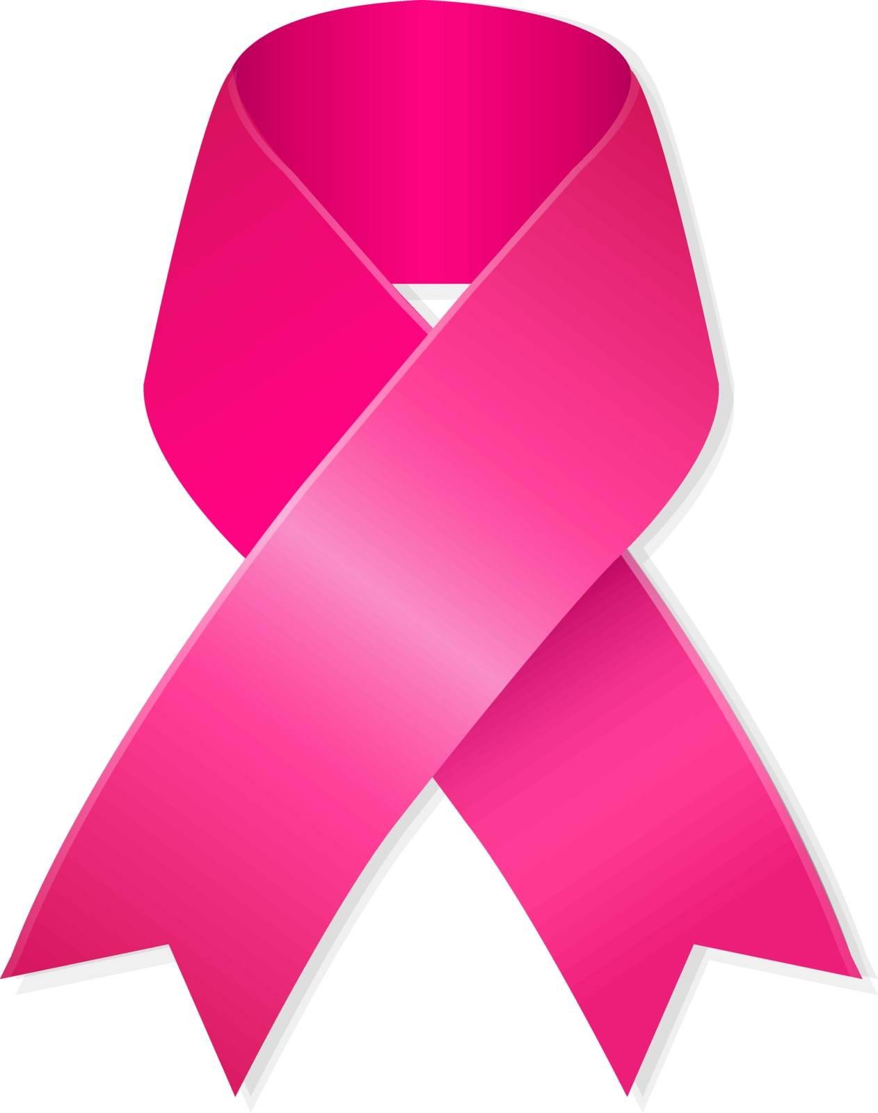 Pink Ribbon, Vector Illustration
