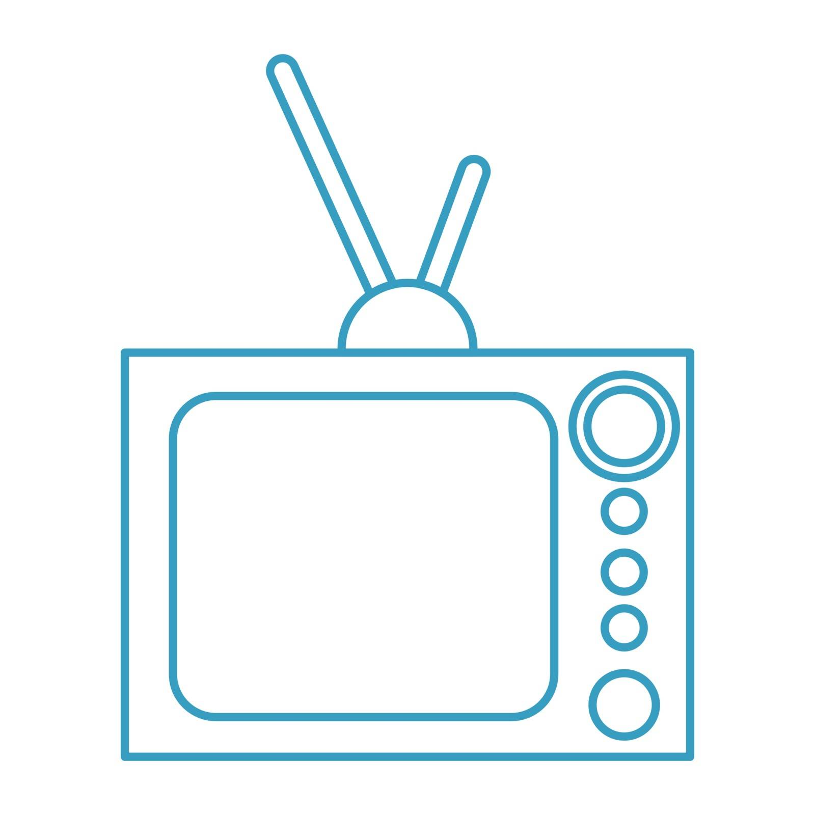 Thin line television icon by ang_bay