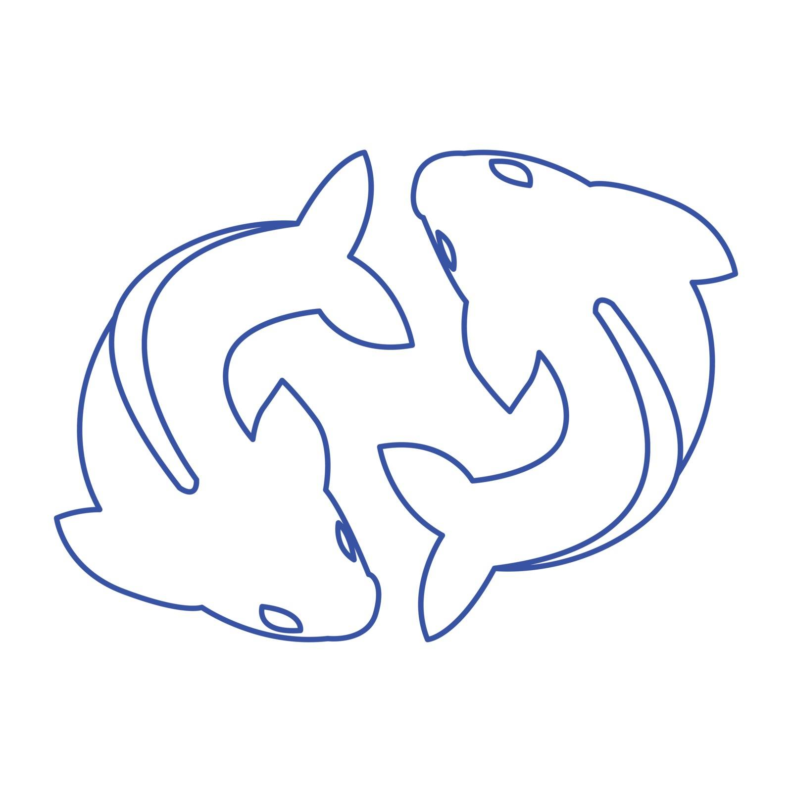 Thin line pisces icon by ang_bay